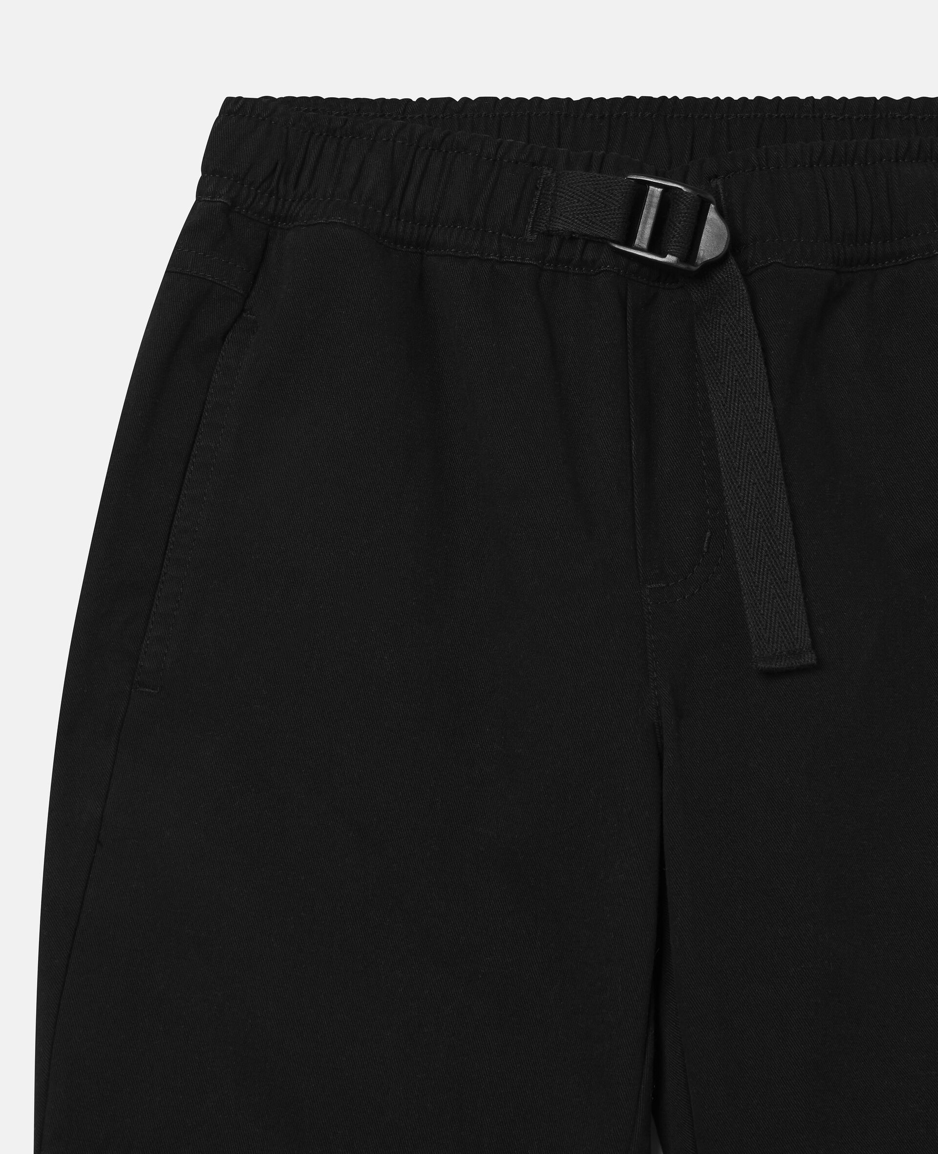 Cargo Cotton Twill Trousers-Black-large image number 1