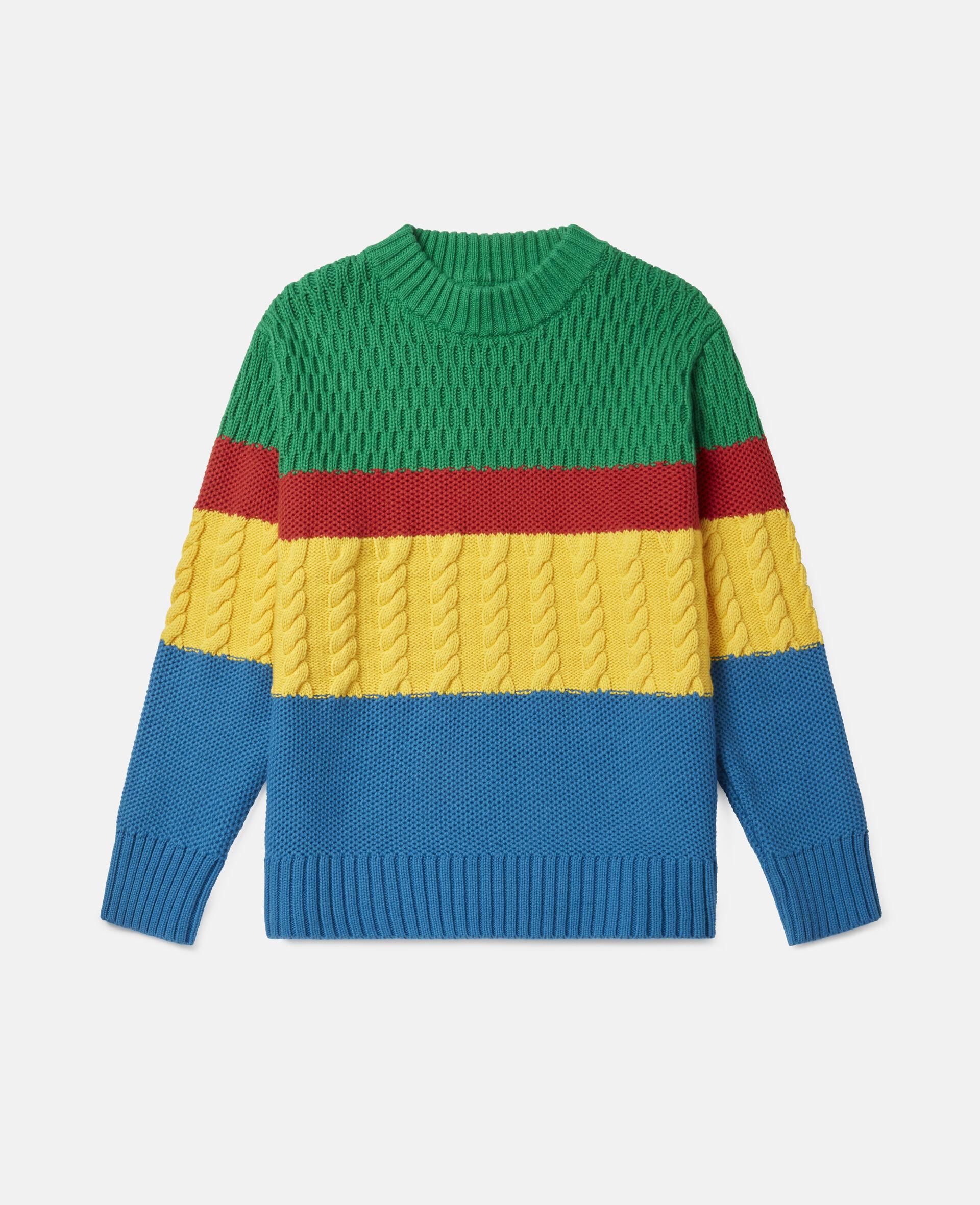 Colourblock Oversized Knit Jumper-Multicolour-large image number 0