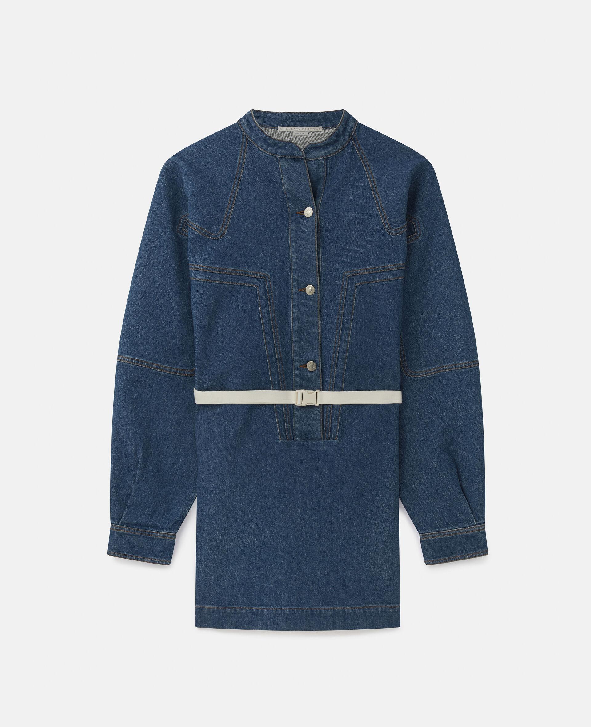 Robe courte en denim-Bleu-large image number 0