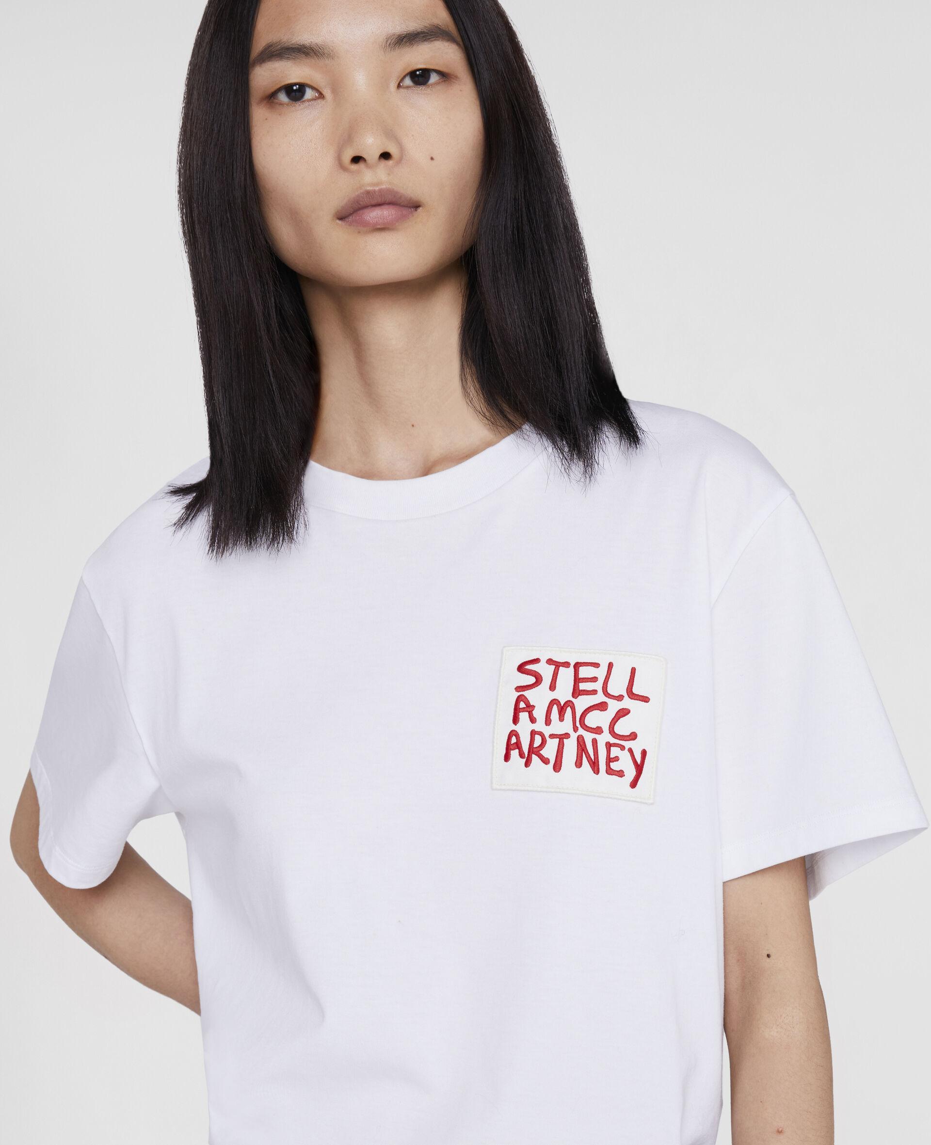 Ed Curtis Stella Logo T-Shirt-White-large image number 4