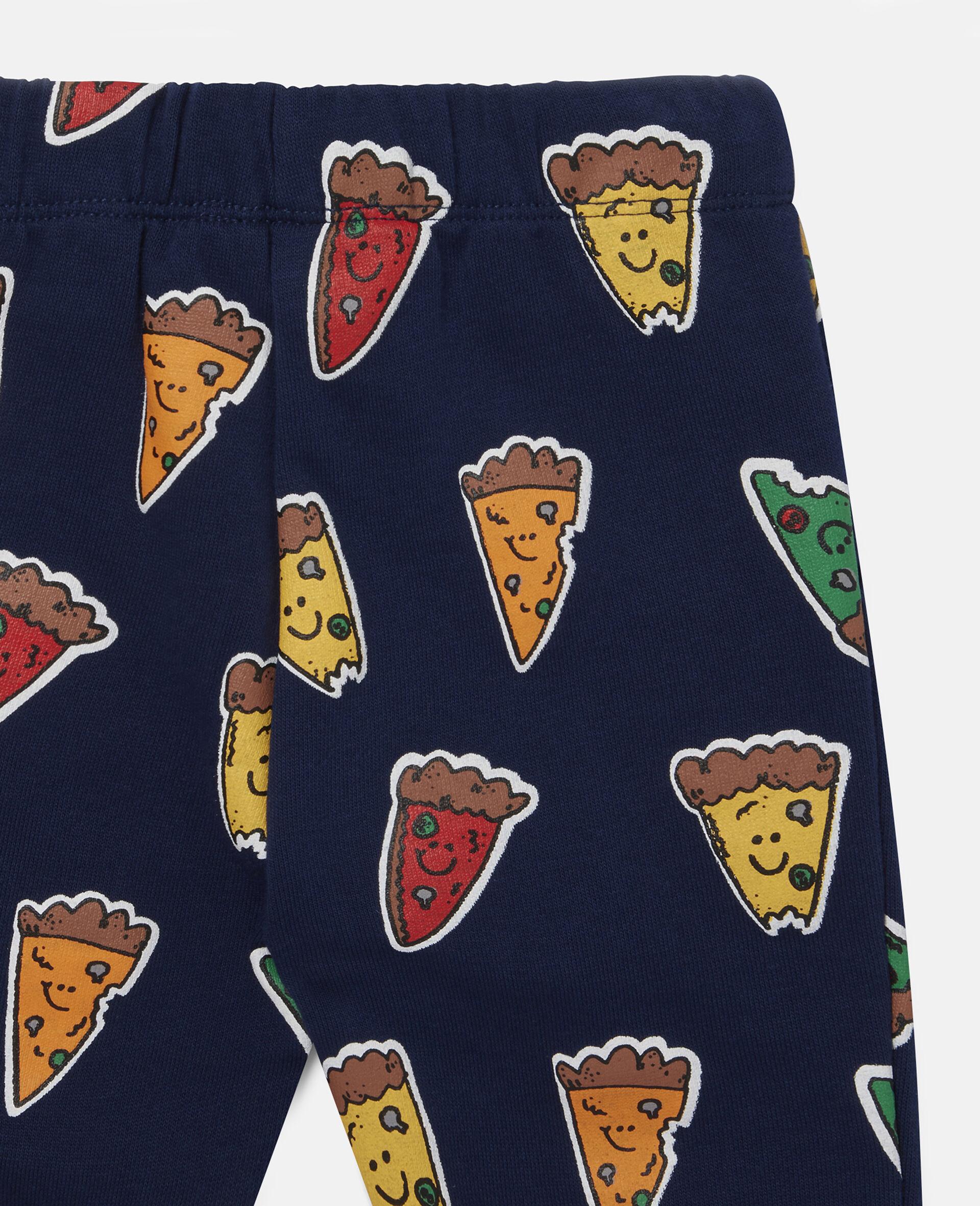 Pizzas Fleece Joggers-Blue-large image number 2