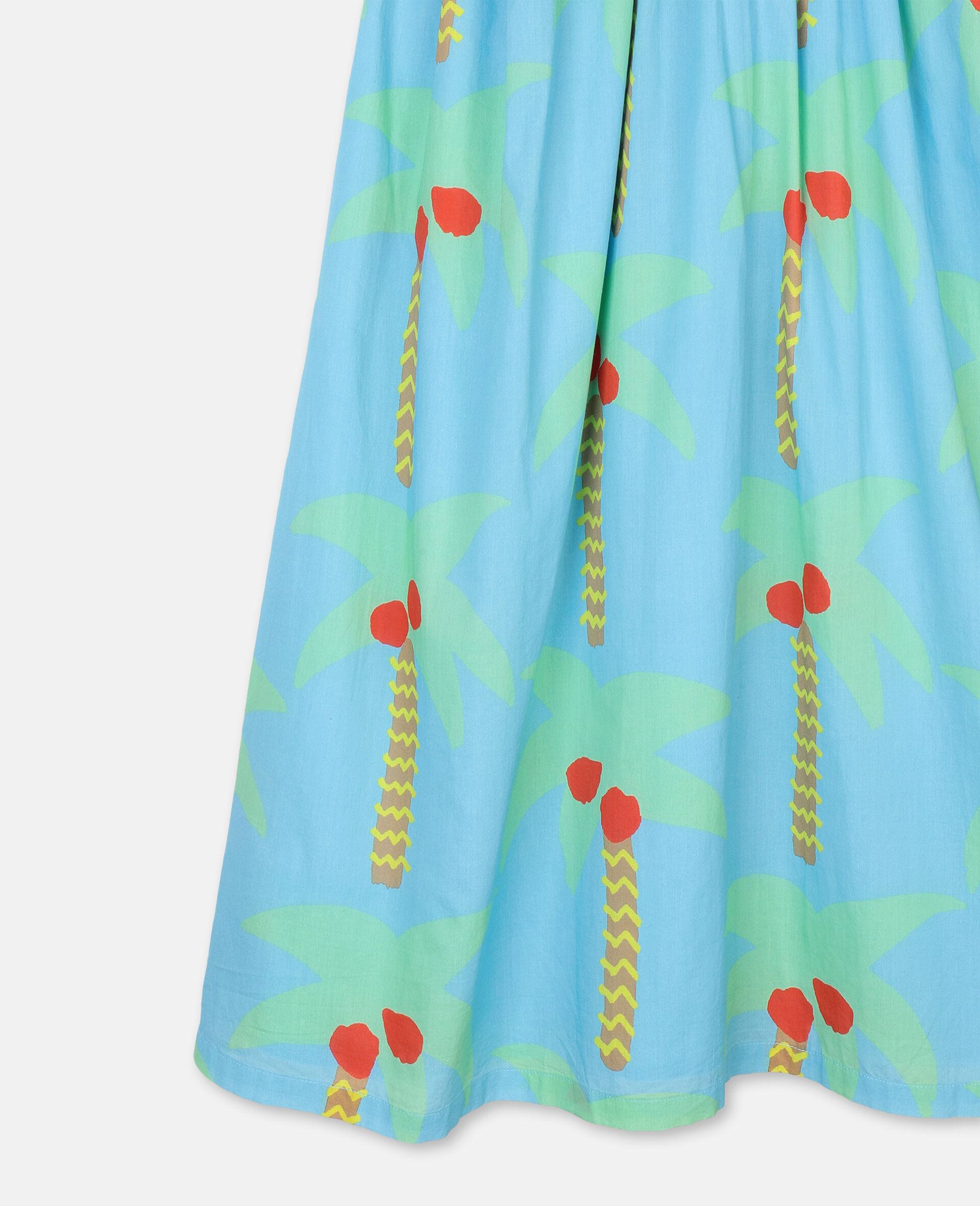 Baumwollkleid mit Palmen-Grün-large image number 1