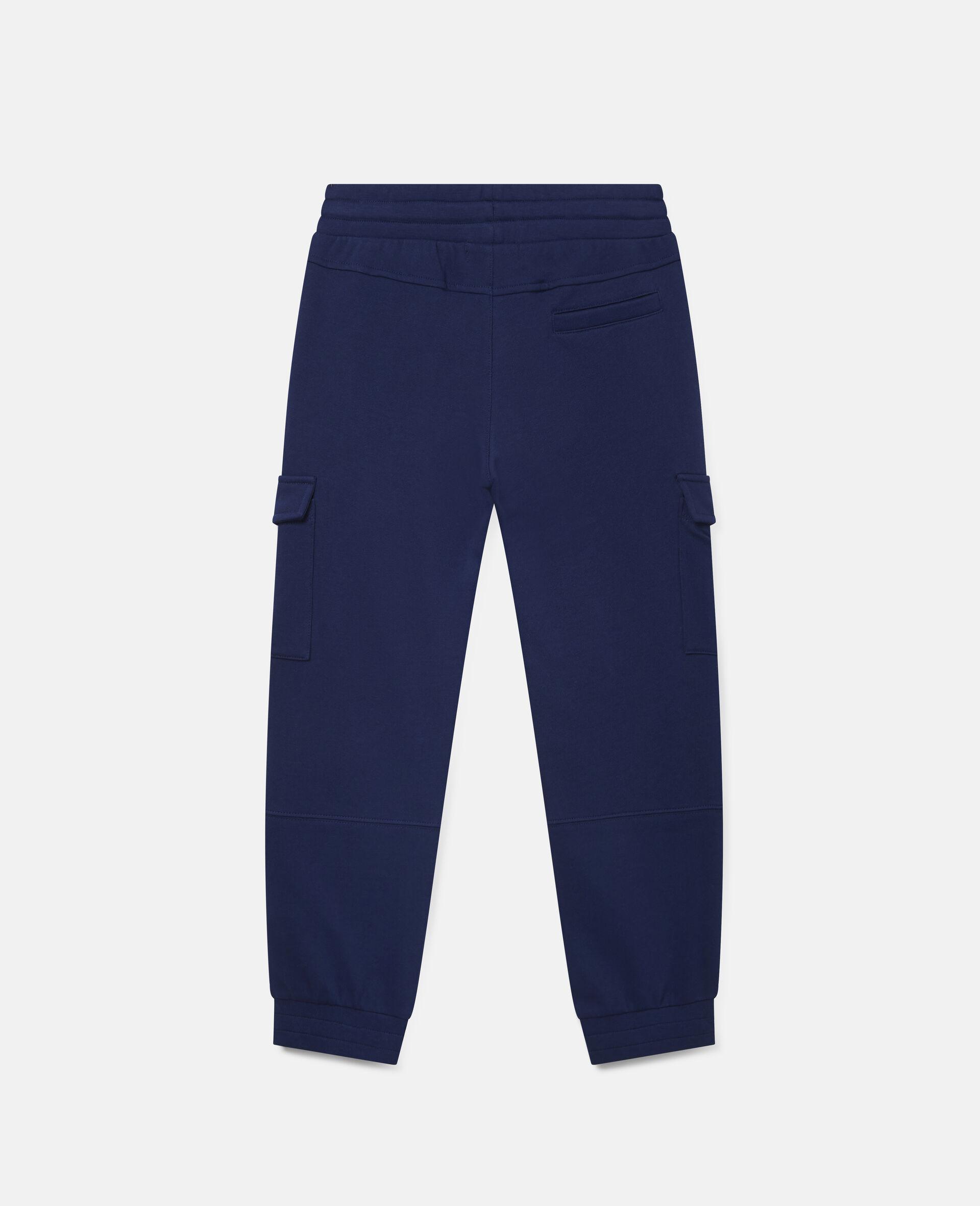 Cargo Fleece Joggers-Blue-large image number 3