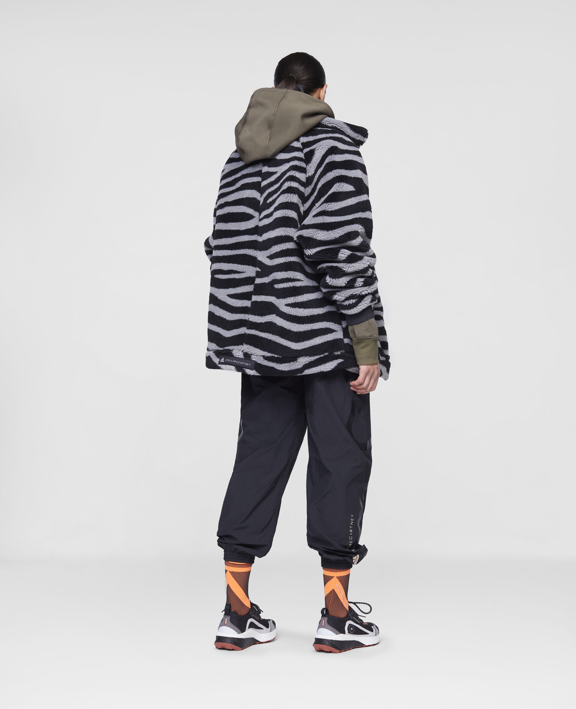 Fleece Hooded Training Jacket-Multicolour-large image number 2