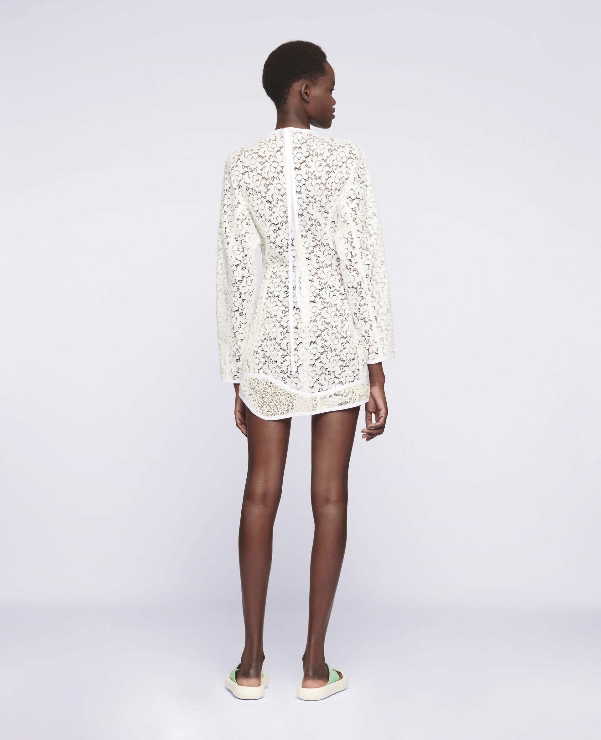 Daphne Mini Dress-White-large image number 2