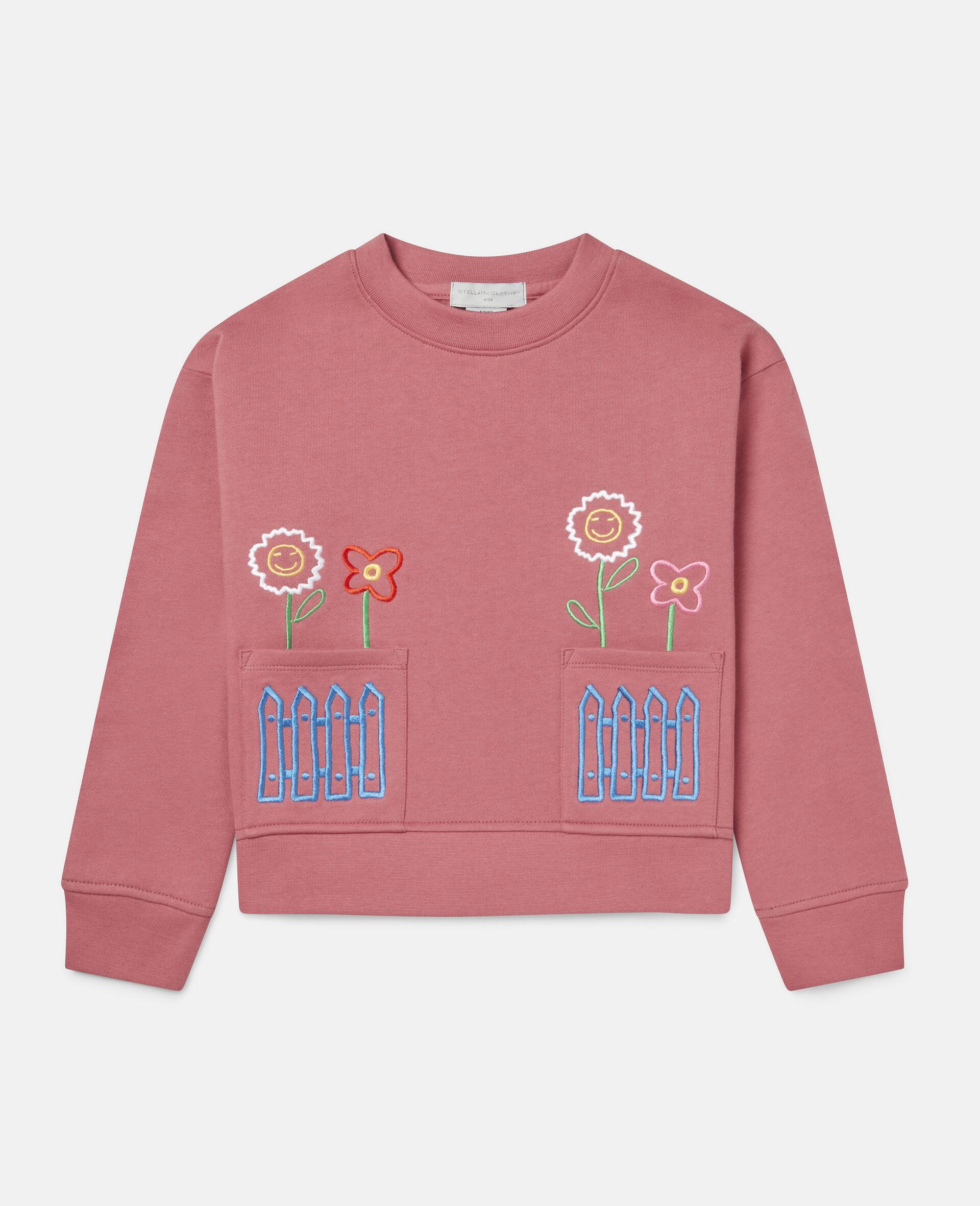 Oversized Fleece Sweatshirt-Red-large image number 0