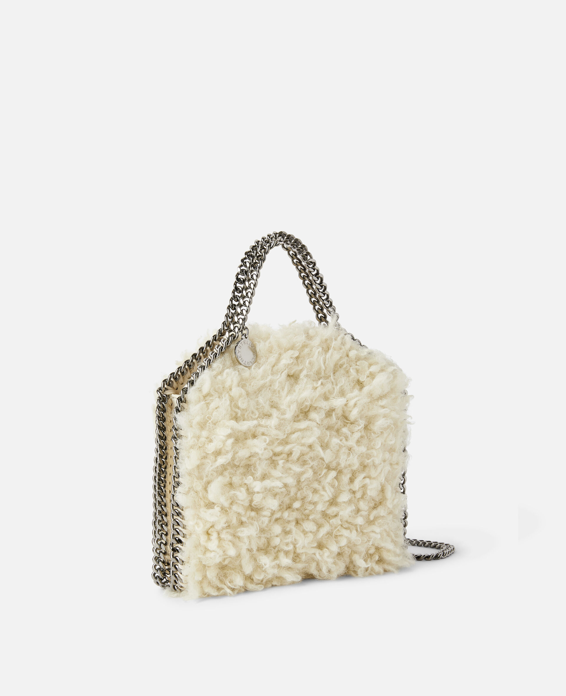 Falabella FFF Tiny Tote-White-large image number 1
