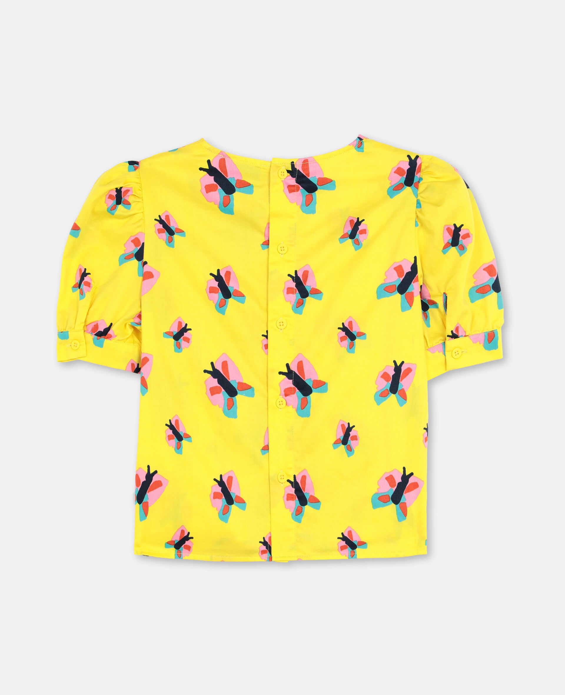 Butterfly Cotton Top-Yellow-large image number 3