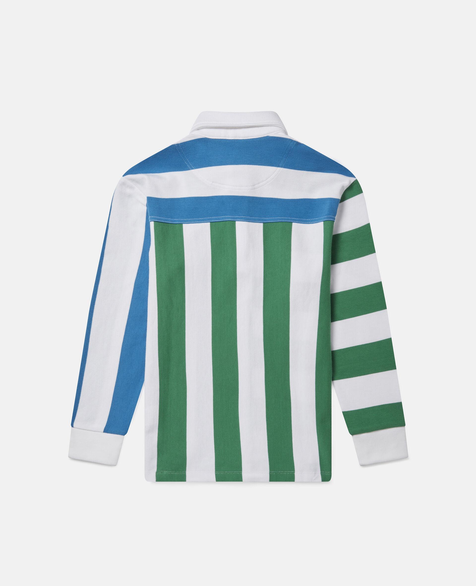 Übergroße gestreifte Hemdbluse im Blockfarben-Design-Bunt-large image number 2