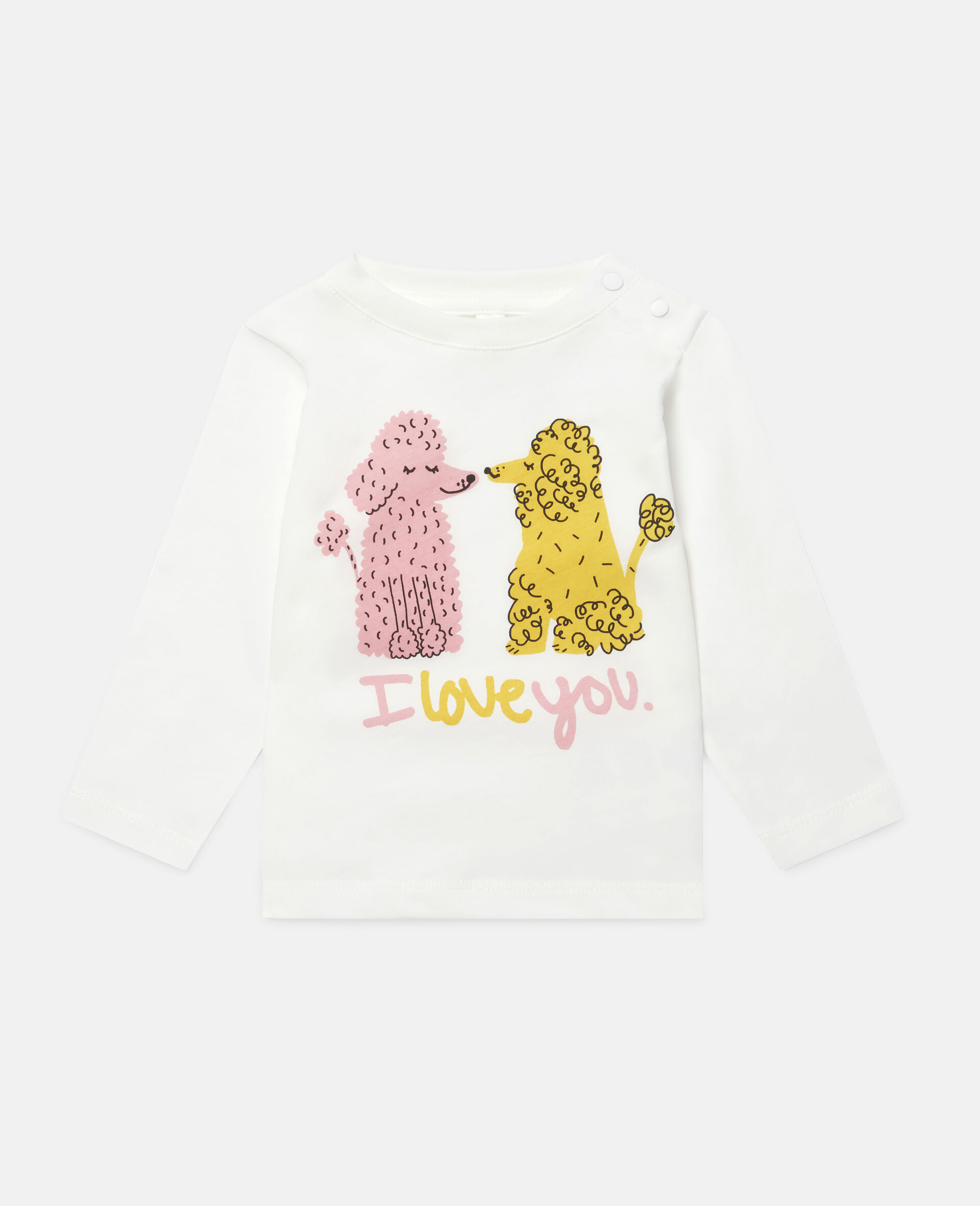 Love Poodles Cotton Top-White-large image number 0