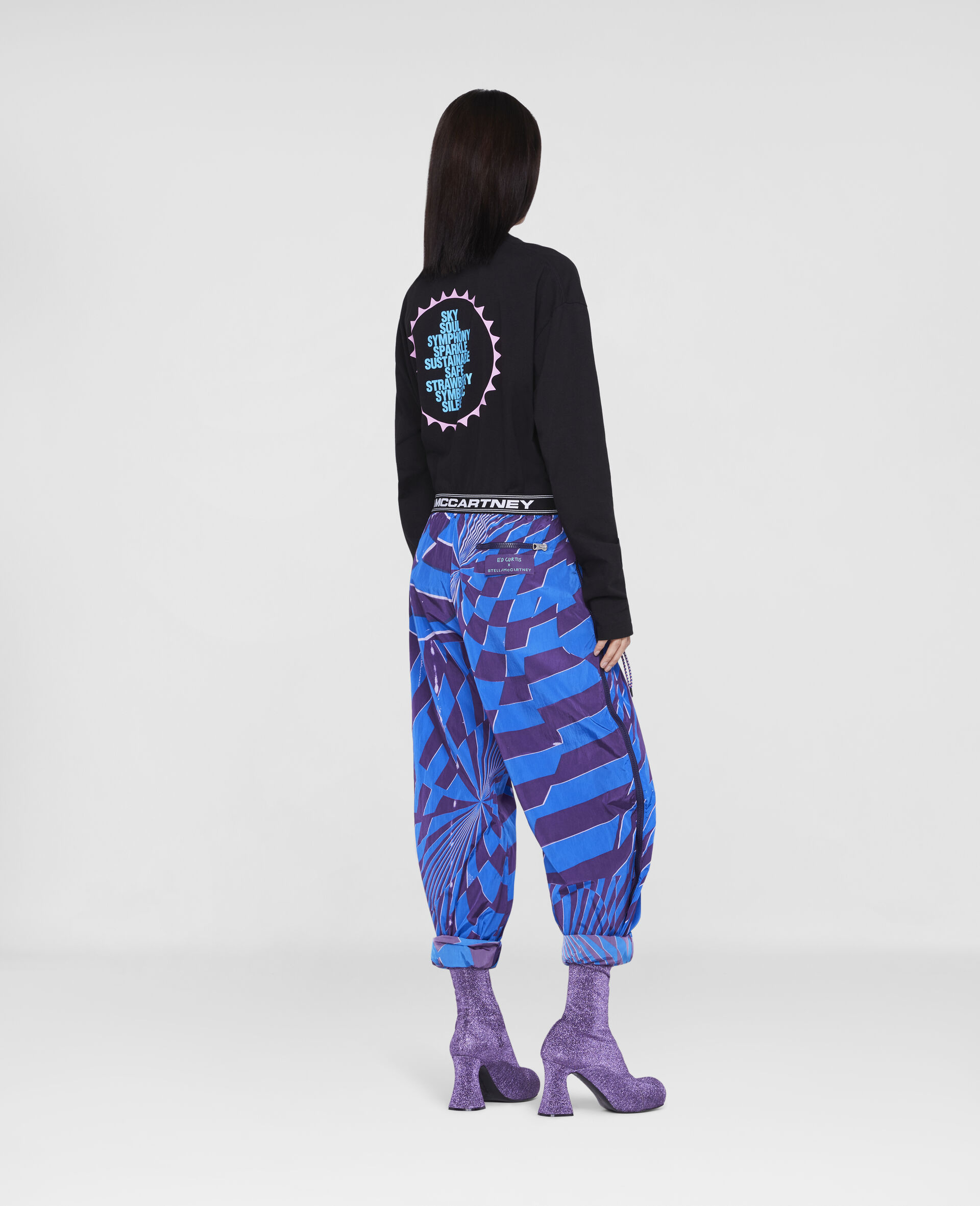 Ed Curtis Psychedelic Joggers -Multicolour-large image number 2