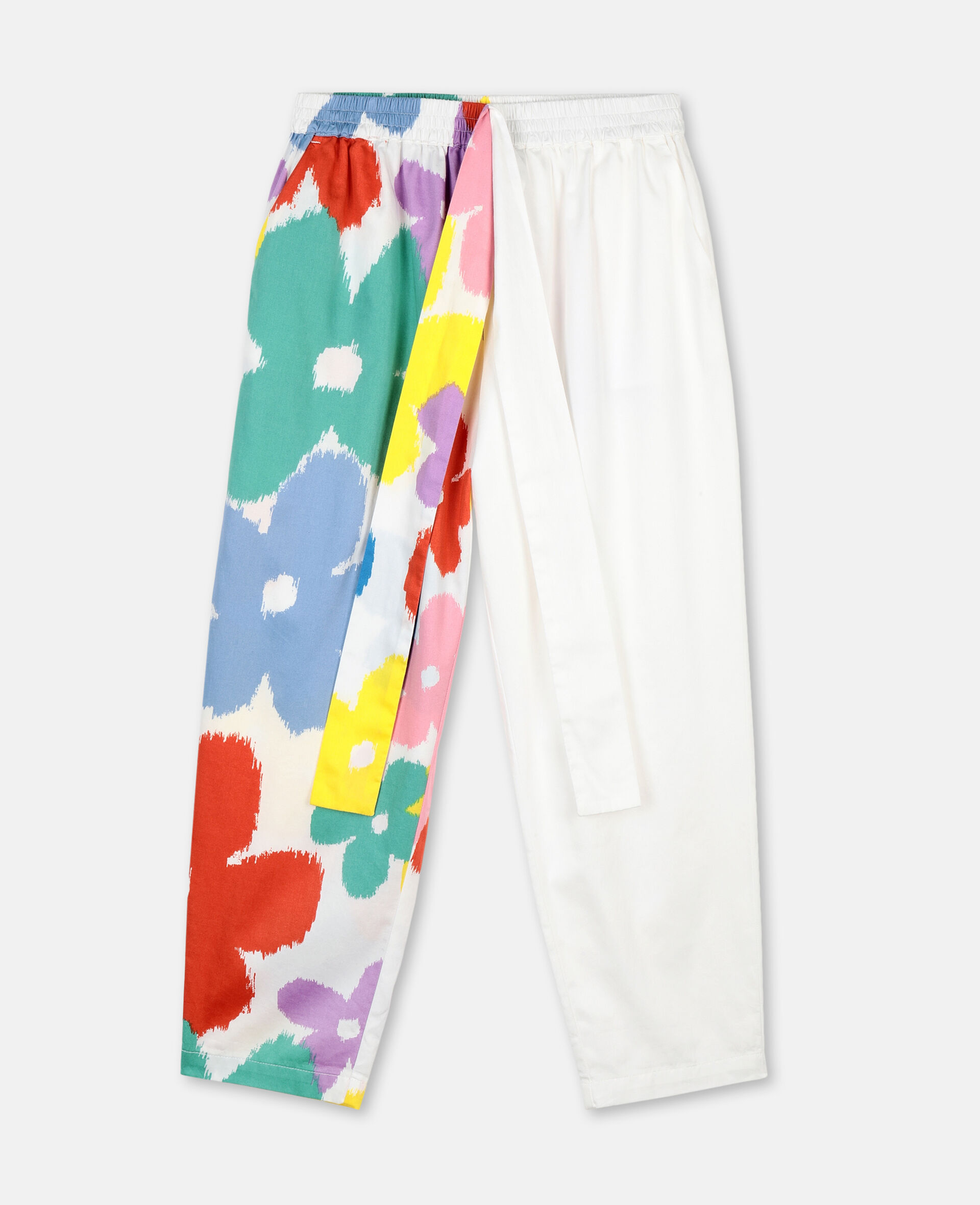 Flower Cotton Trousers-Multicolour-large image number 0