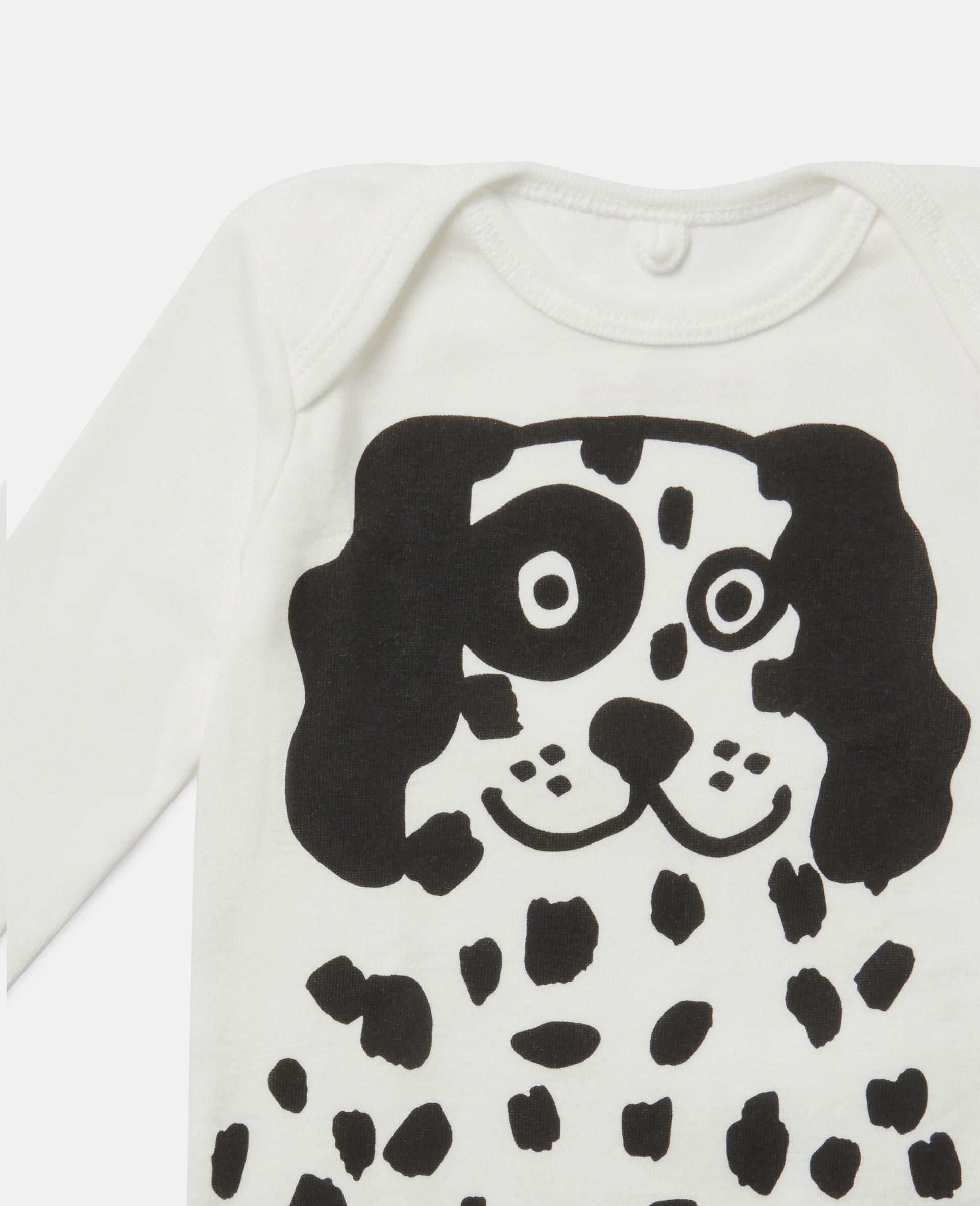 """""""Doodle Dalmatians"""" Body und Jumpsuit aus geripptem Jersey-Weiß-large image number 2"""