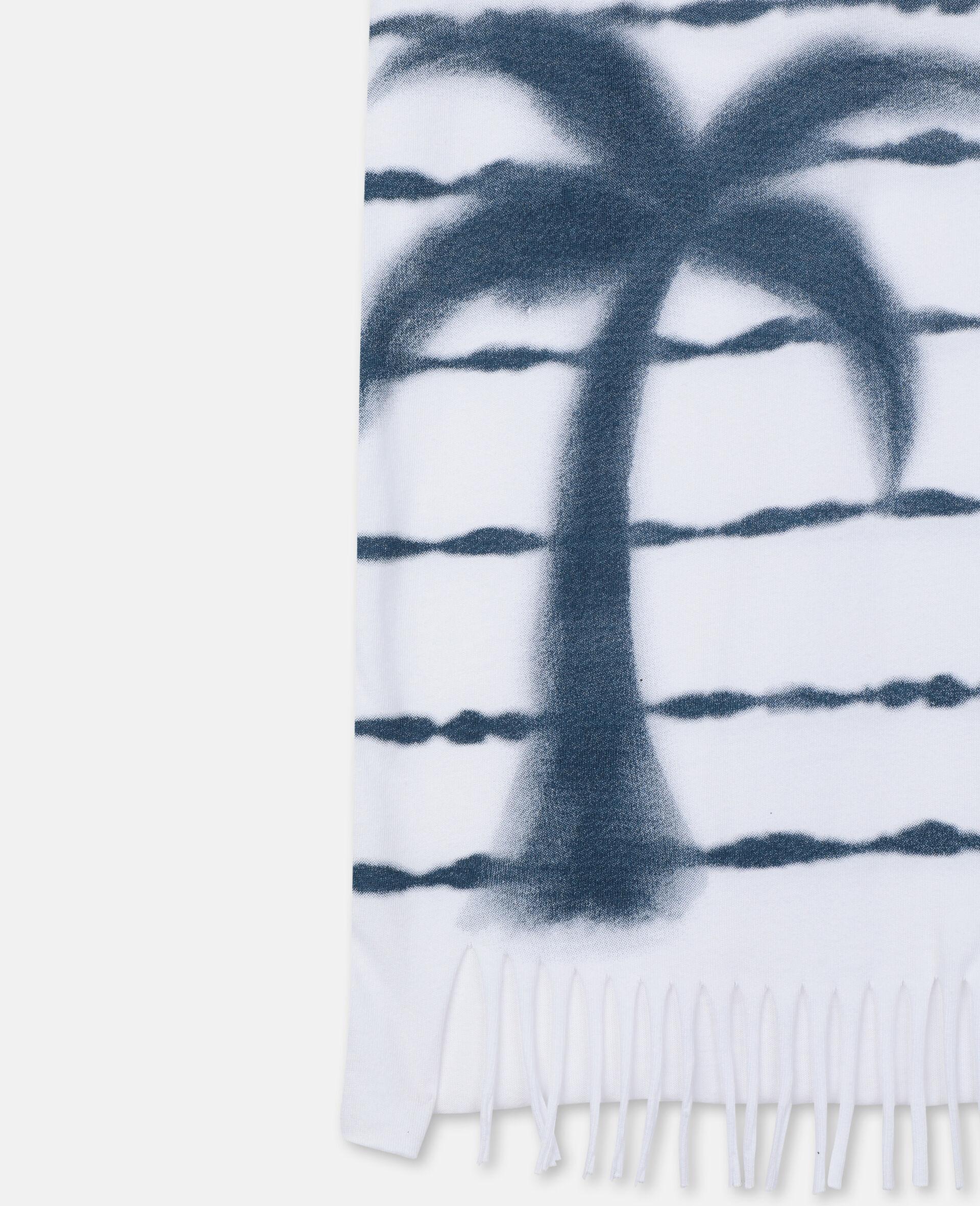 Robe en coton avec imprimé palmiers-Blanc-large image number 2