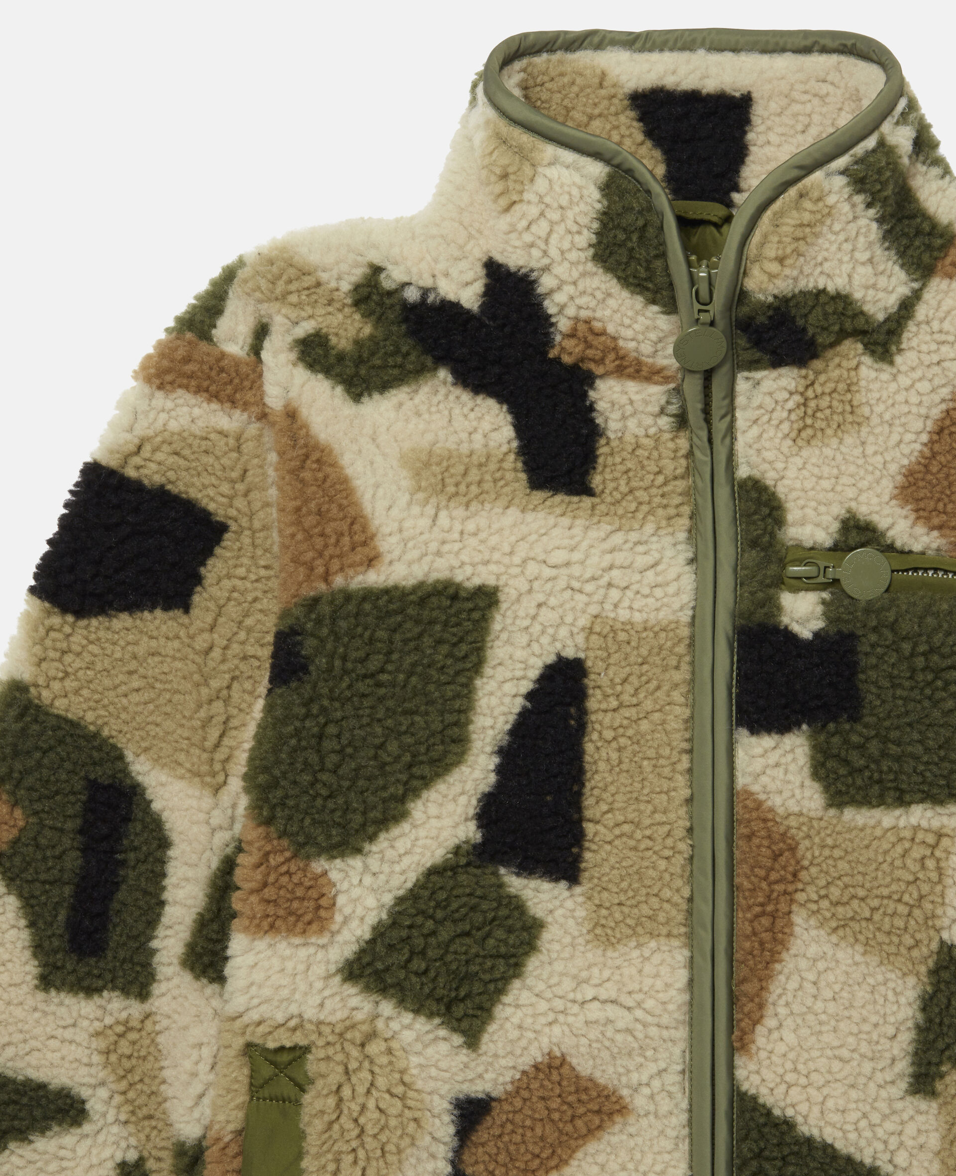 Giacca in Teddy Camouflage Militare-Fantasia-large image number 1