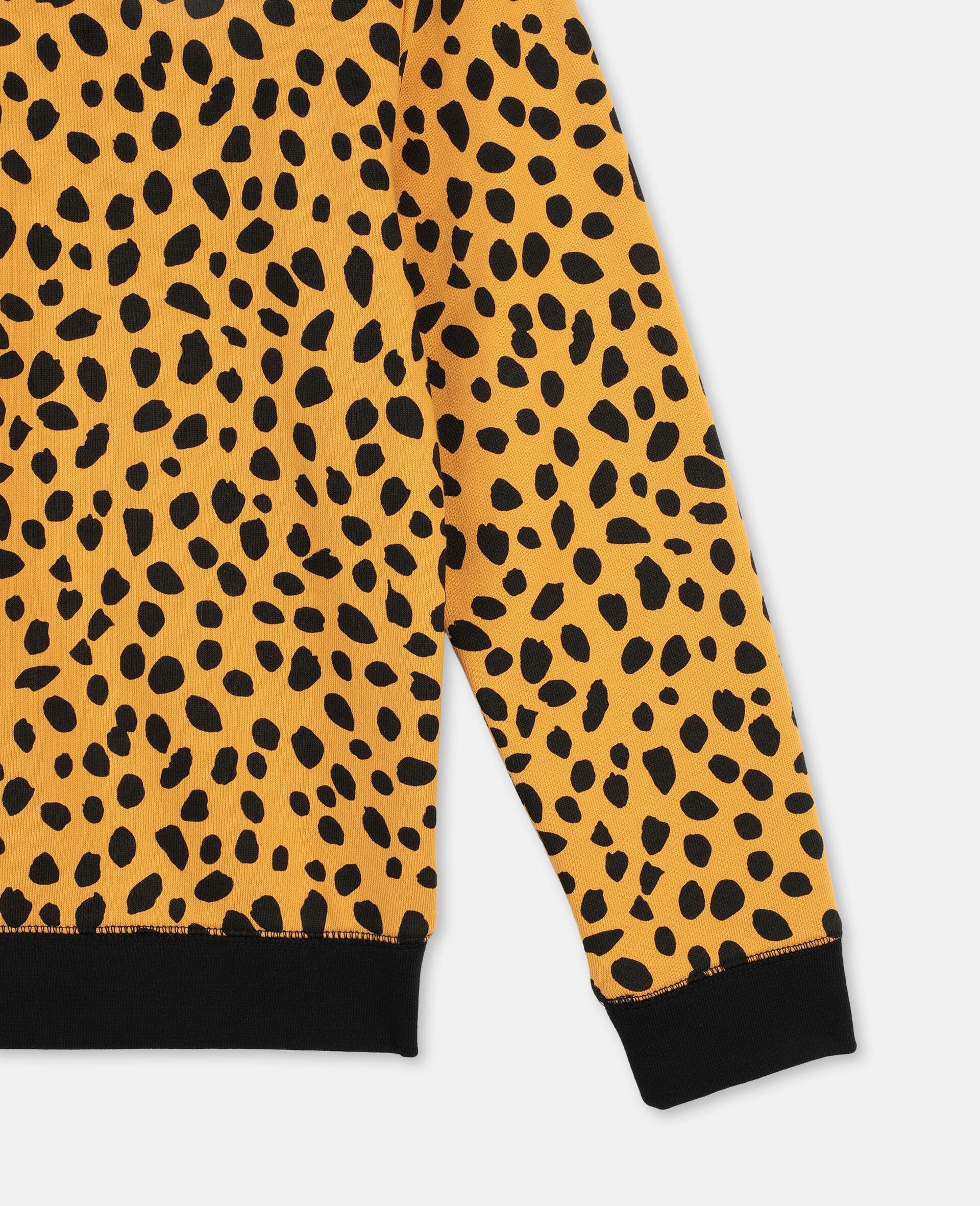 Cheetah Dots Cotton Fleece Sweatshirt -Multicoloured-large image number 2