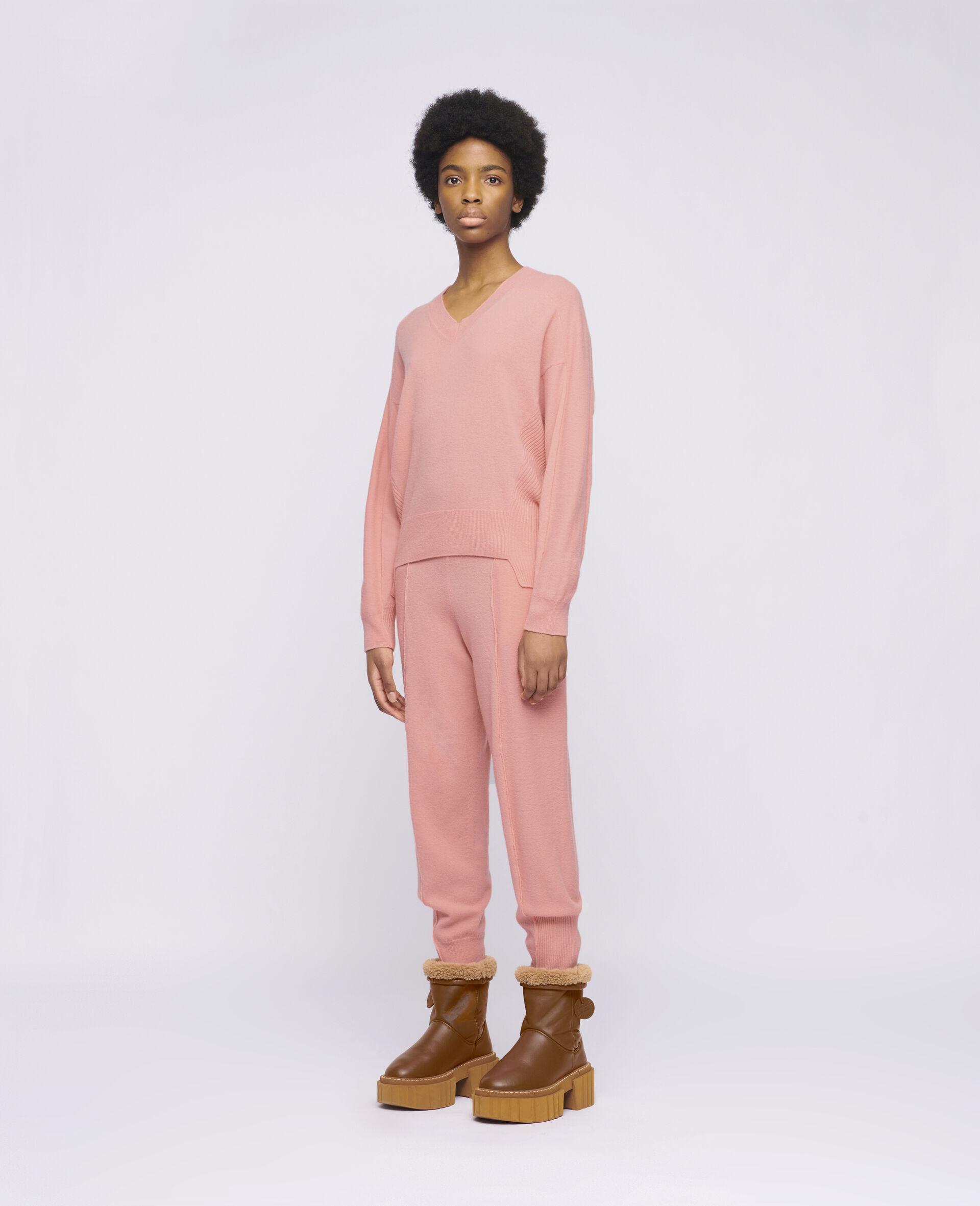 Knit Trousers -Orange-large image number 1