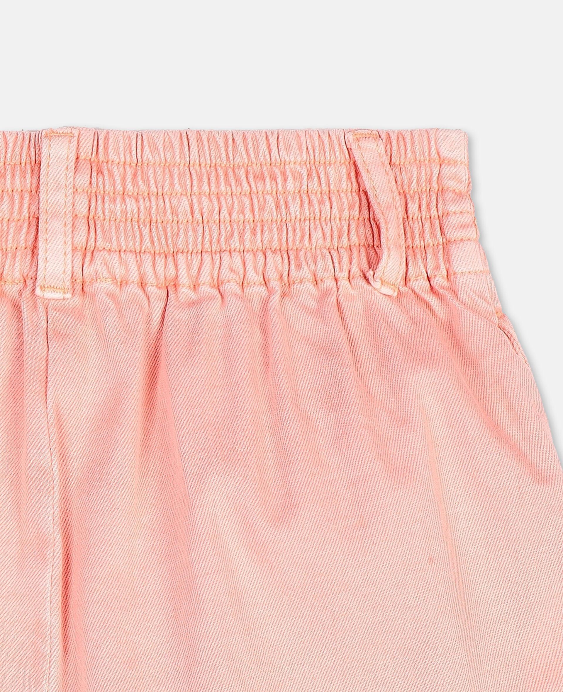 Denim Coral Shorts -Pink-large image number 2