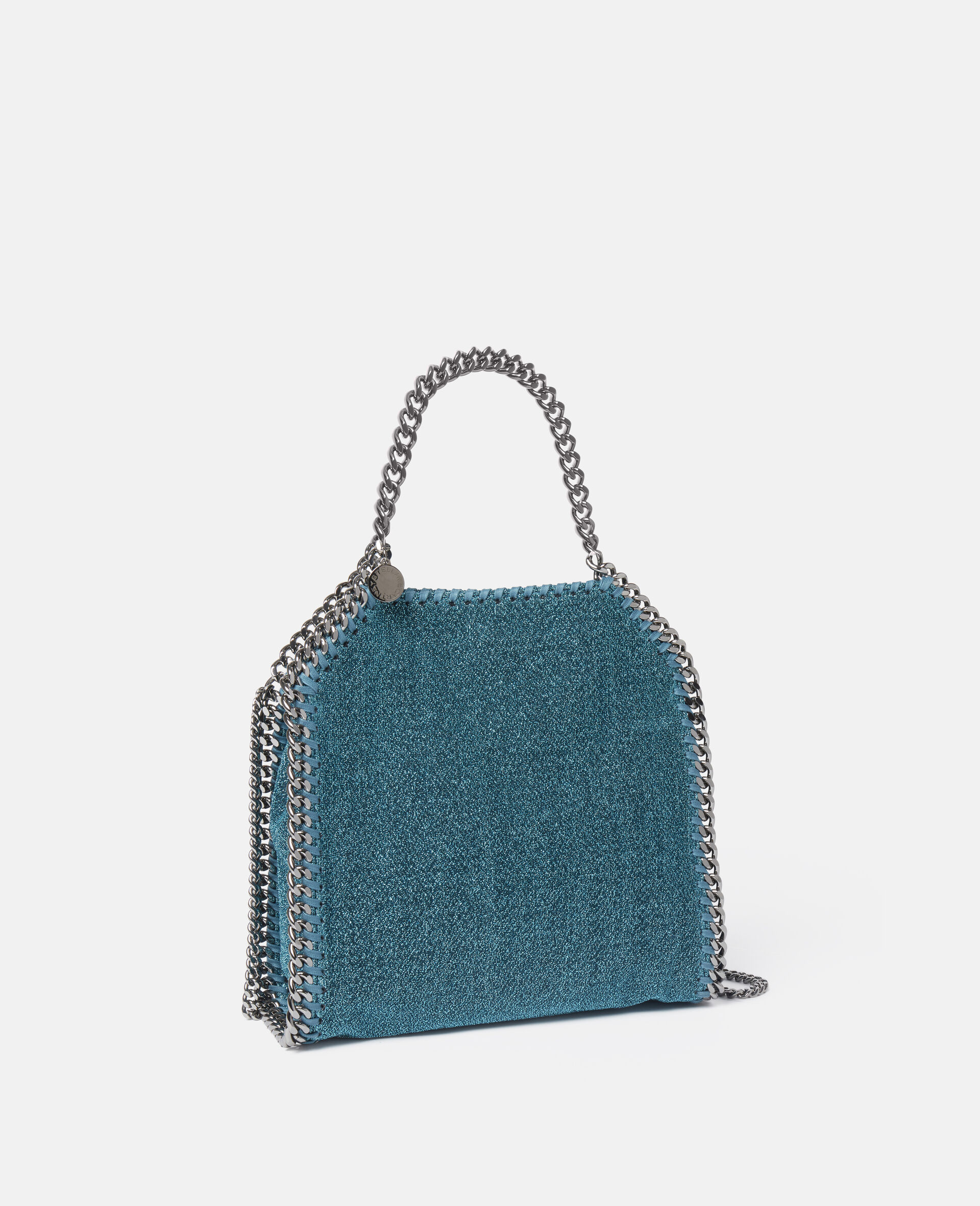 Falabella Mini Glittery Lurex Tote-Blue-large image number 1