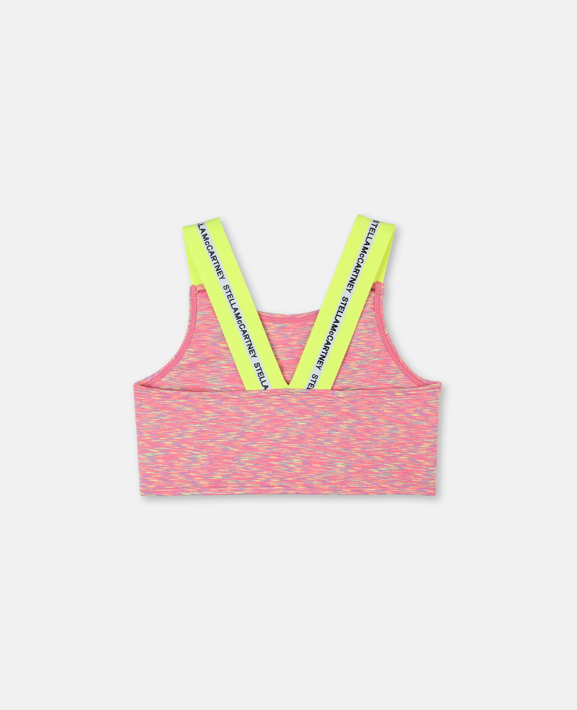 Logo Space Dye Jersey Active Bra-Multicoloured-large image number 3