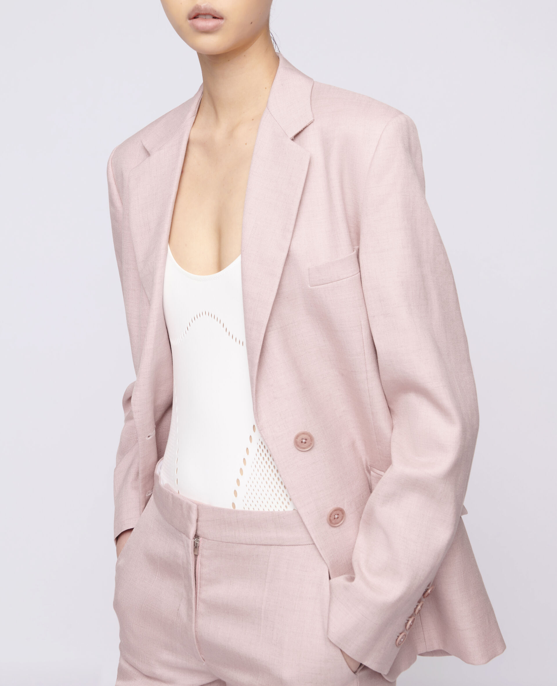 Abby Tailored Jacket-Pink-large image number 3