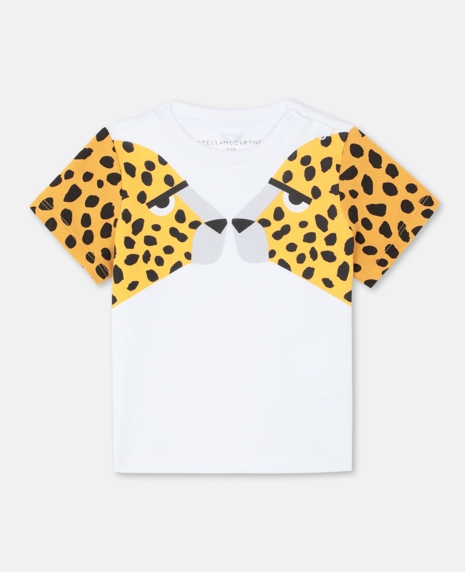 Cheetah Cotton T-shirt -White-large image number 0