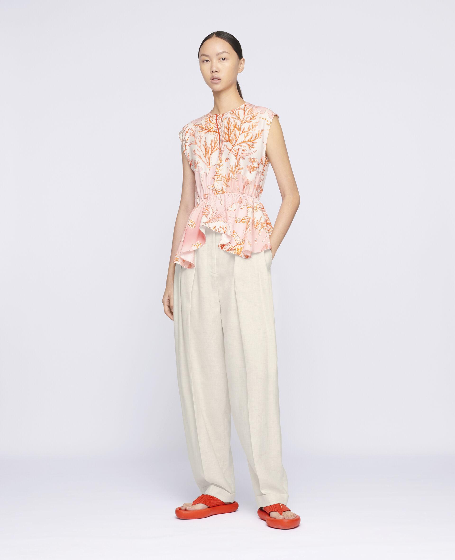Alana Silk Top -Multicolour-large image number 1
