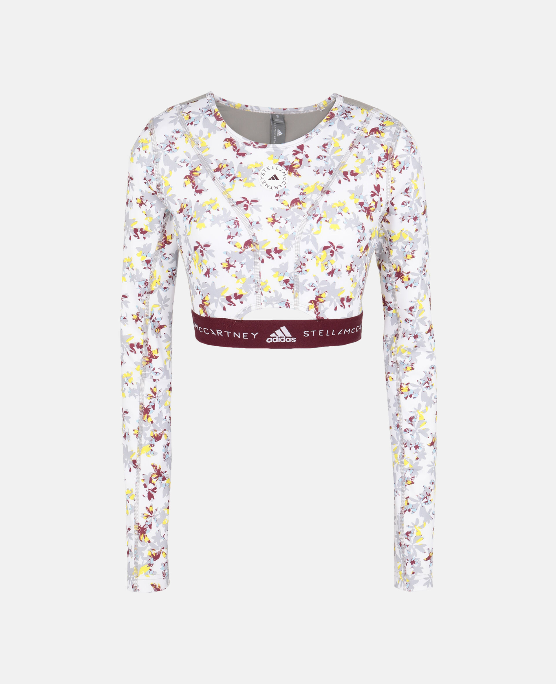 Future Playground Long-Sleeved Crop Top -White-large image number 0