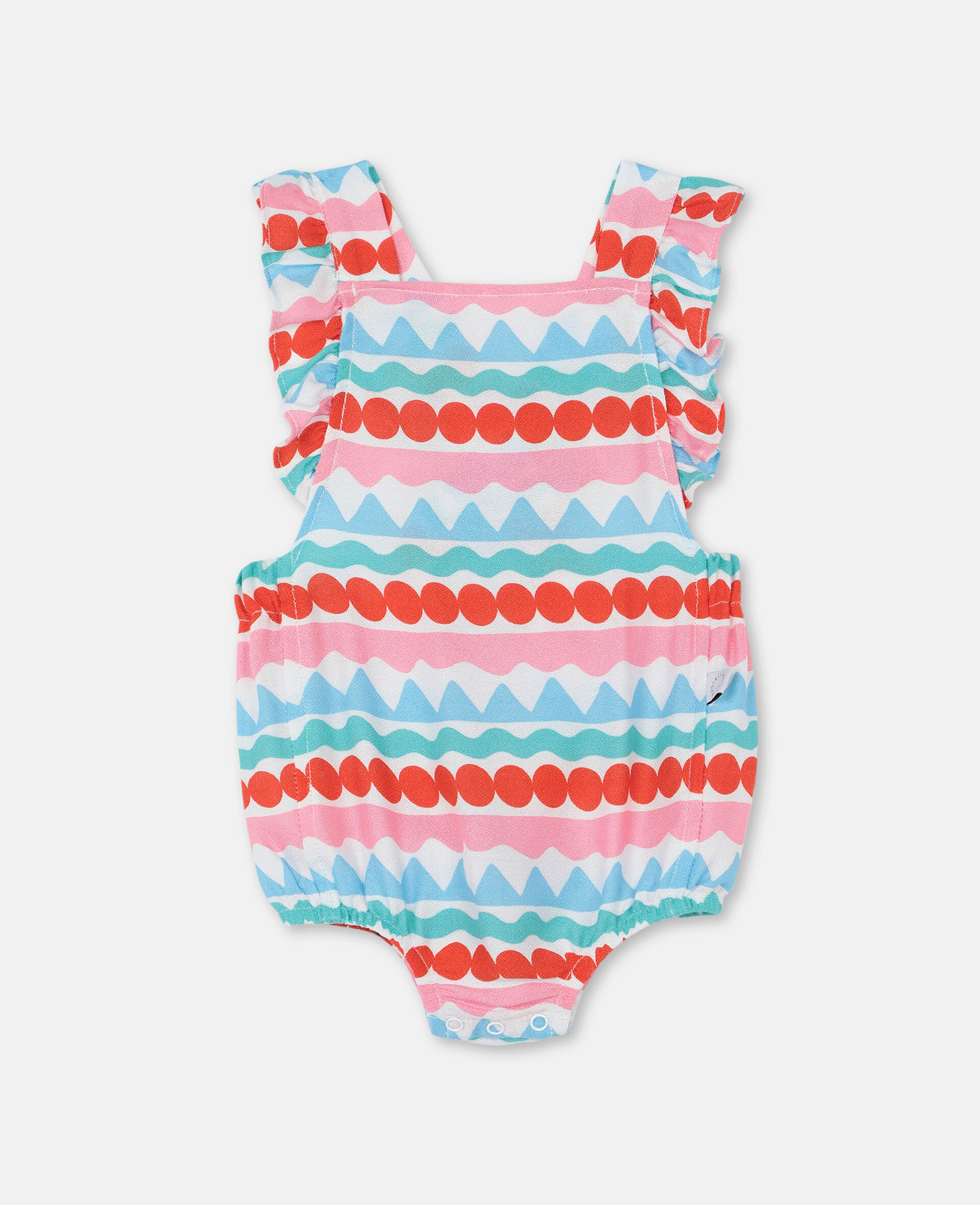 Graphic Striped Jumpsuit-Multicoloured-large image number 0