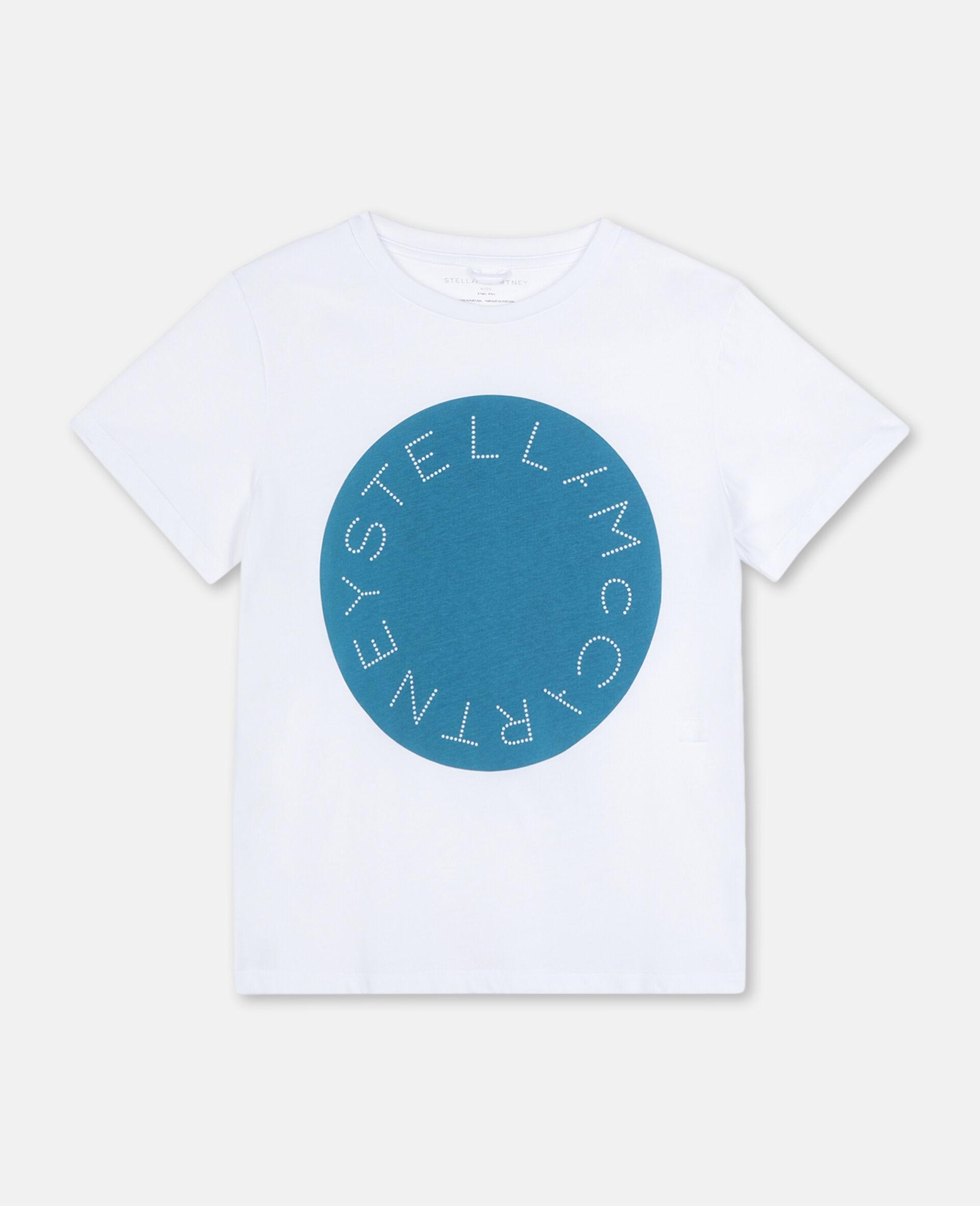 Logo Cotton T-shirt-White-large image number 0