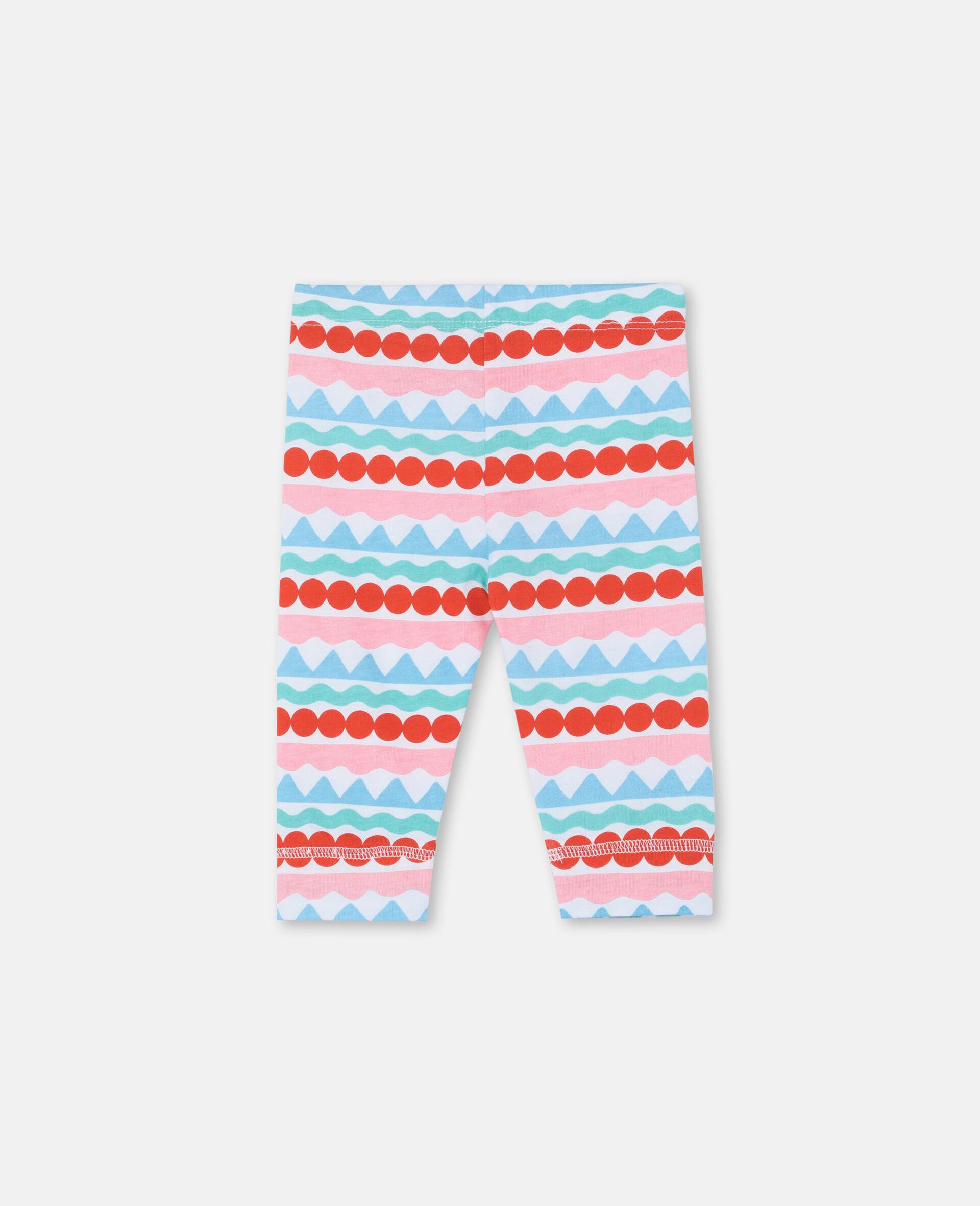 Graphic Striped Leggings-Multicolour-large image number 3