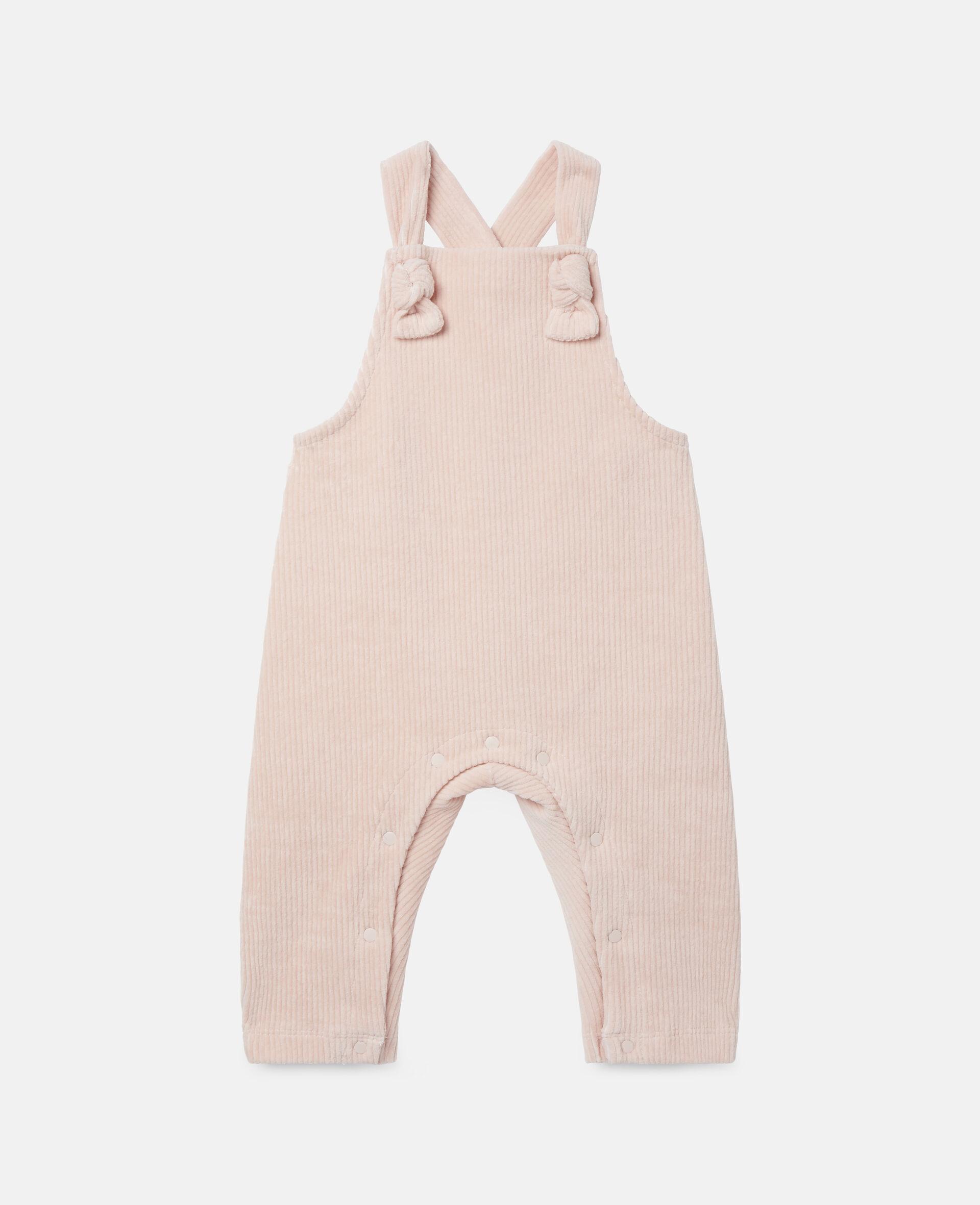 Combinaison pour bébé en velours-Rose-large image number 0