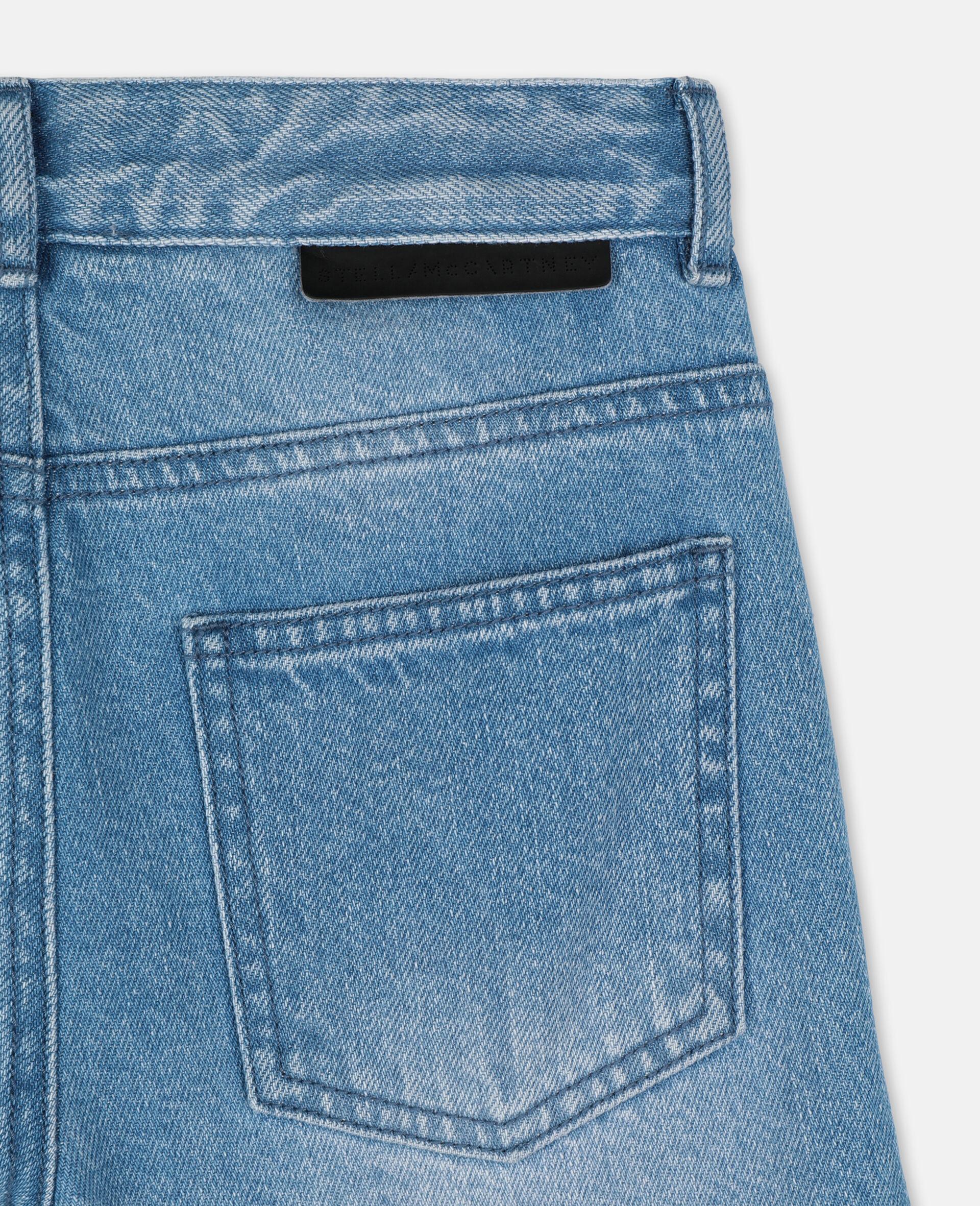 Regular Denim Trousers -Blue-large image number 2