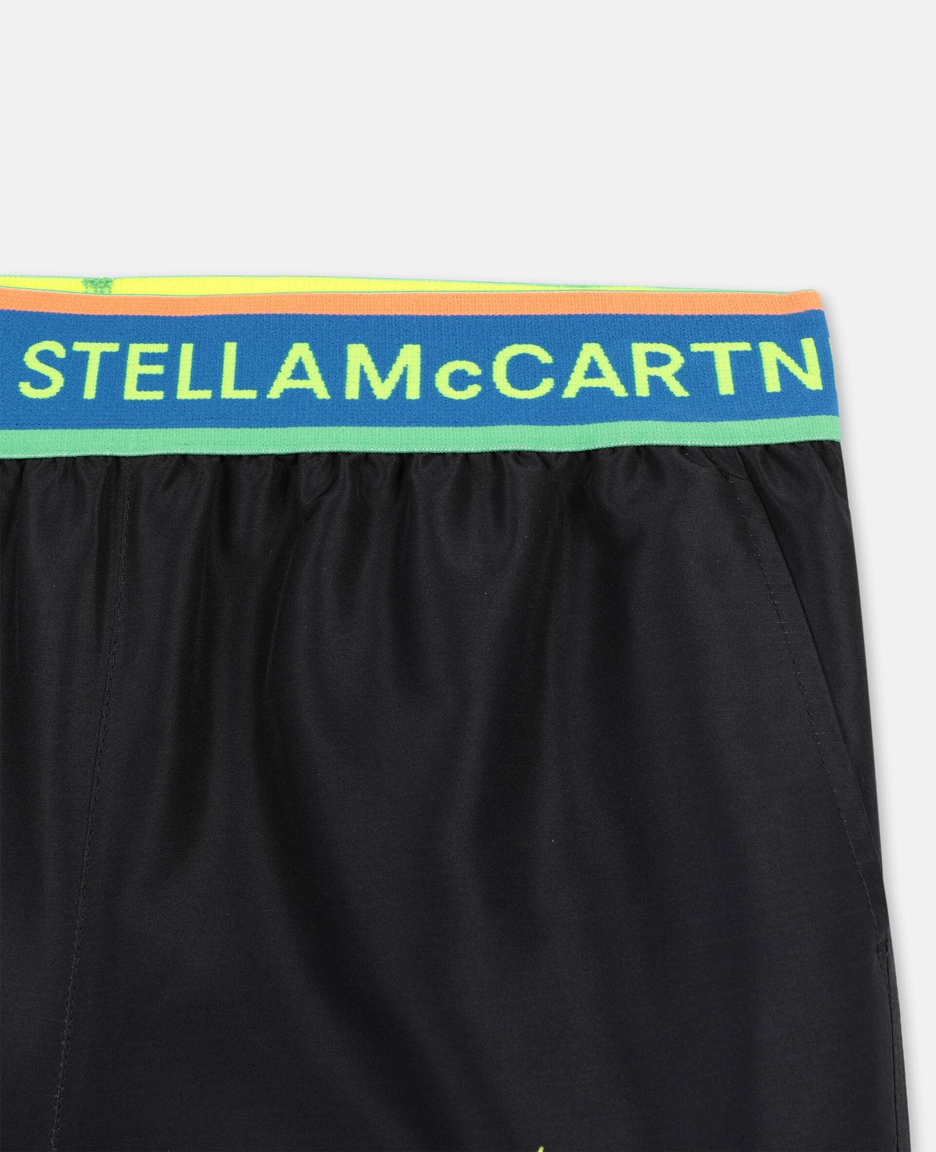 Palm Swim Shorts-Black-large image number 1