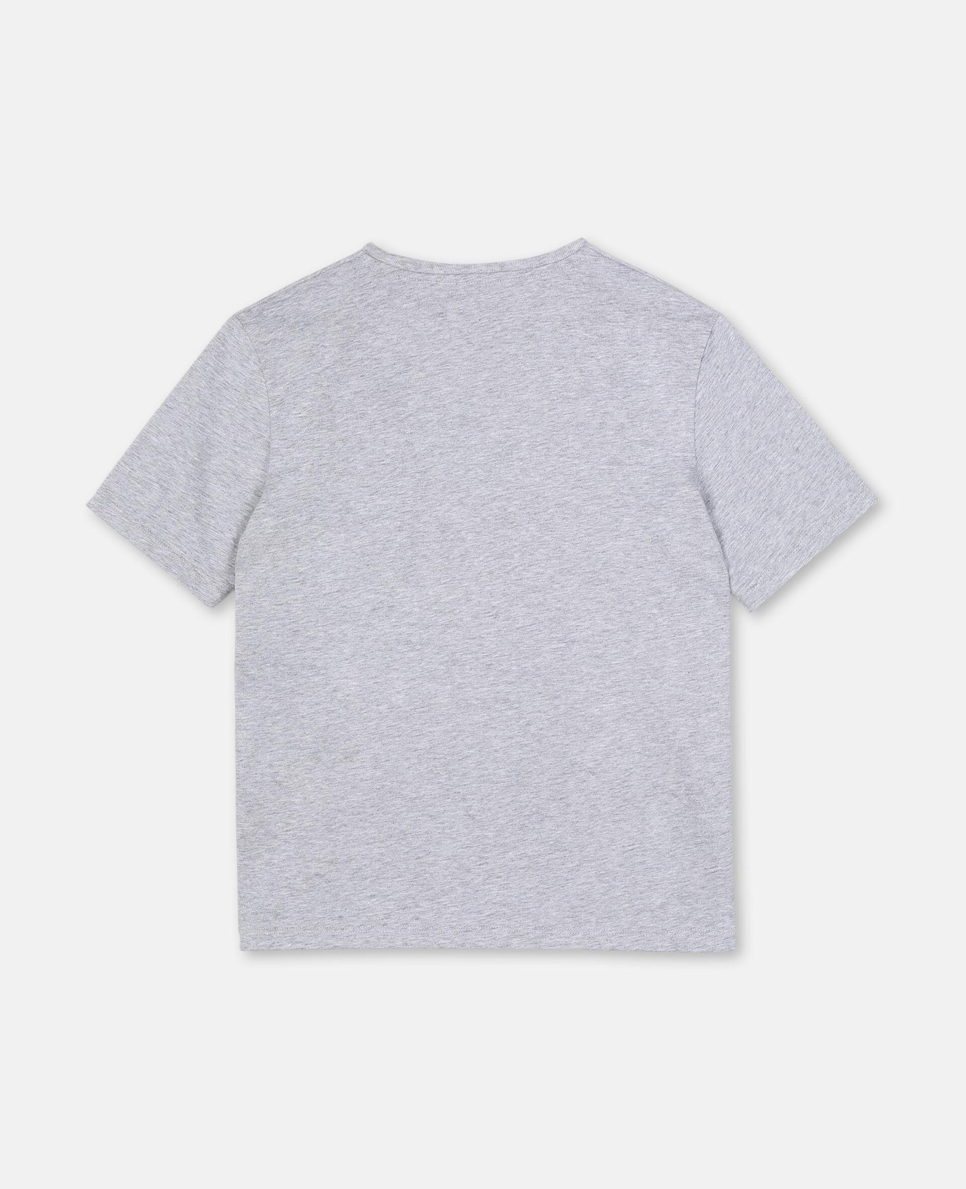 T-shirt oversize avec motif carte postale-Blanc-large image number 3