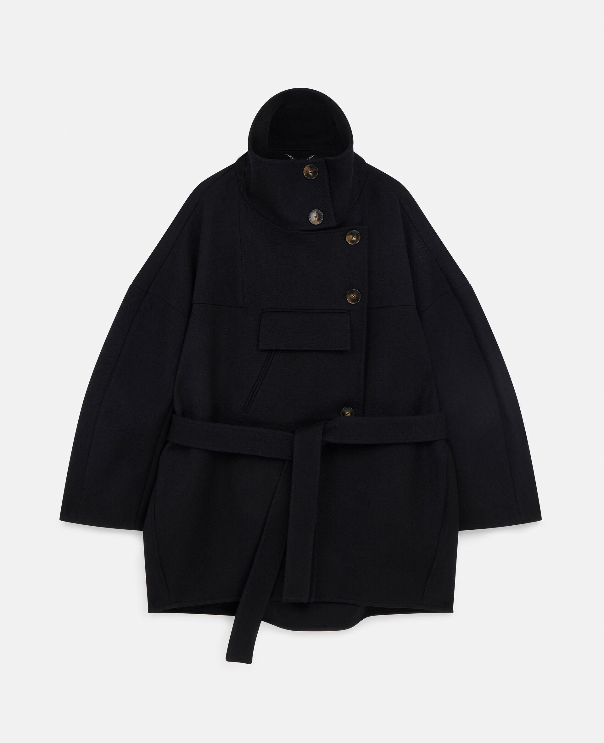 Veda Wool Coat-Black-large image number 0