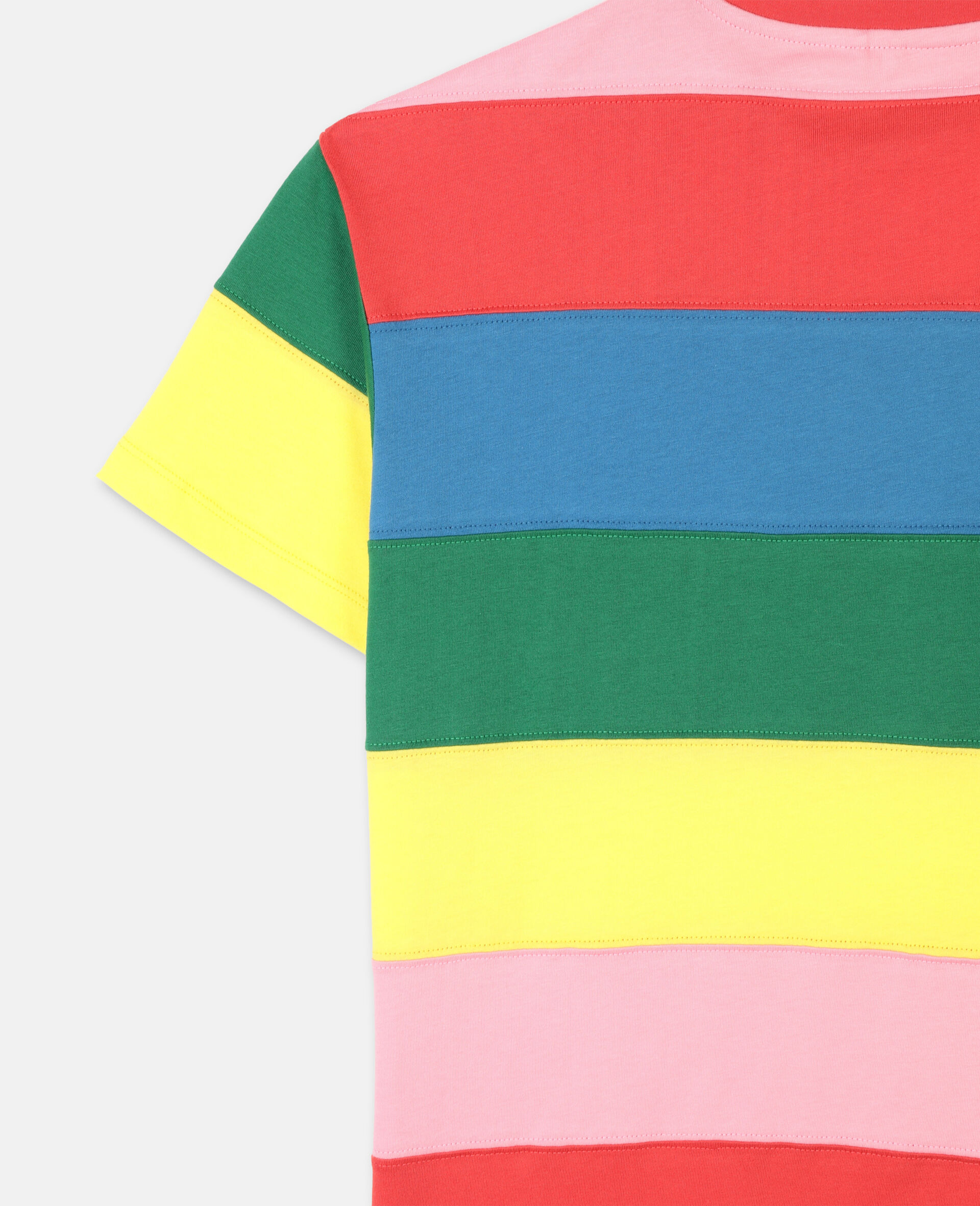 Striped Cotton Dress -Multicolour-large image number 2