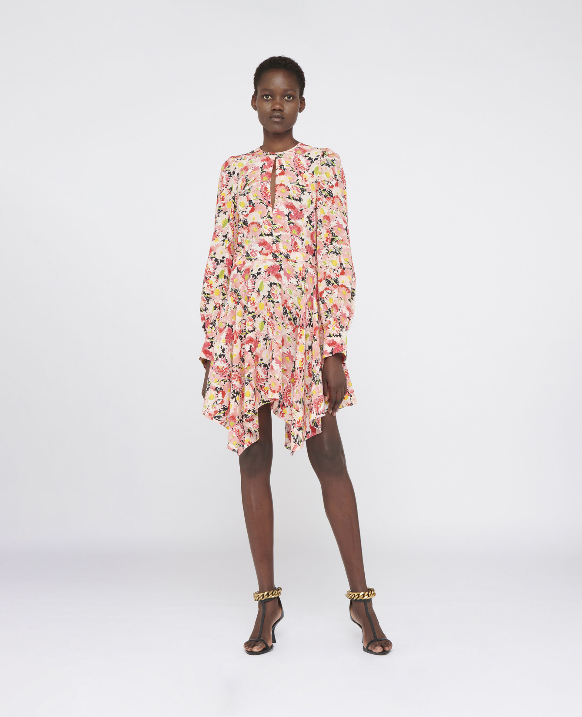 Felicity Silk Dress-Multicolour-large image number 1