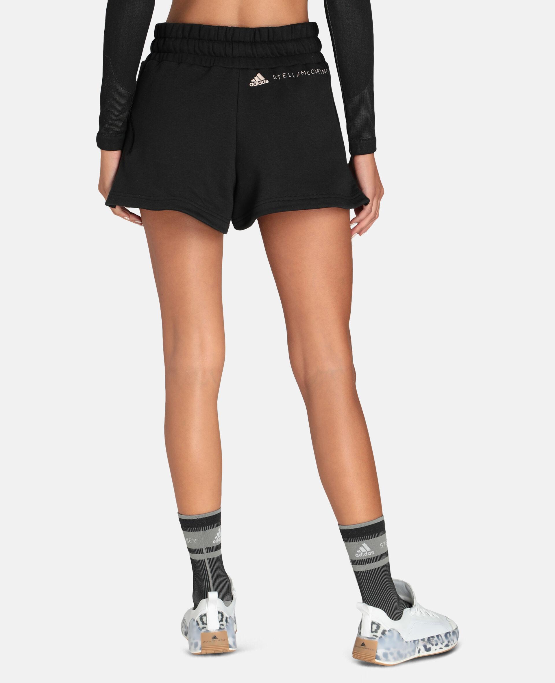 Schwarze Fleece-Sweat-Shorts-Schwarz-large image number 2