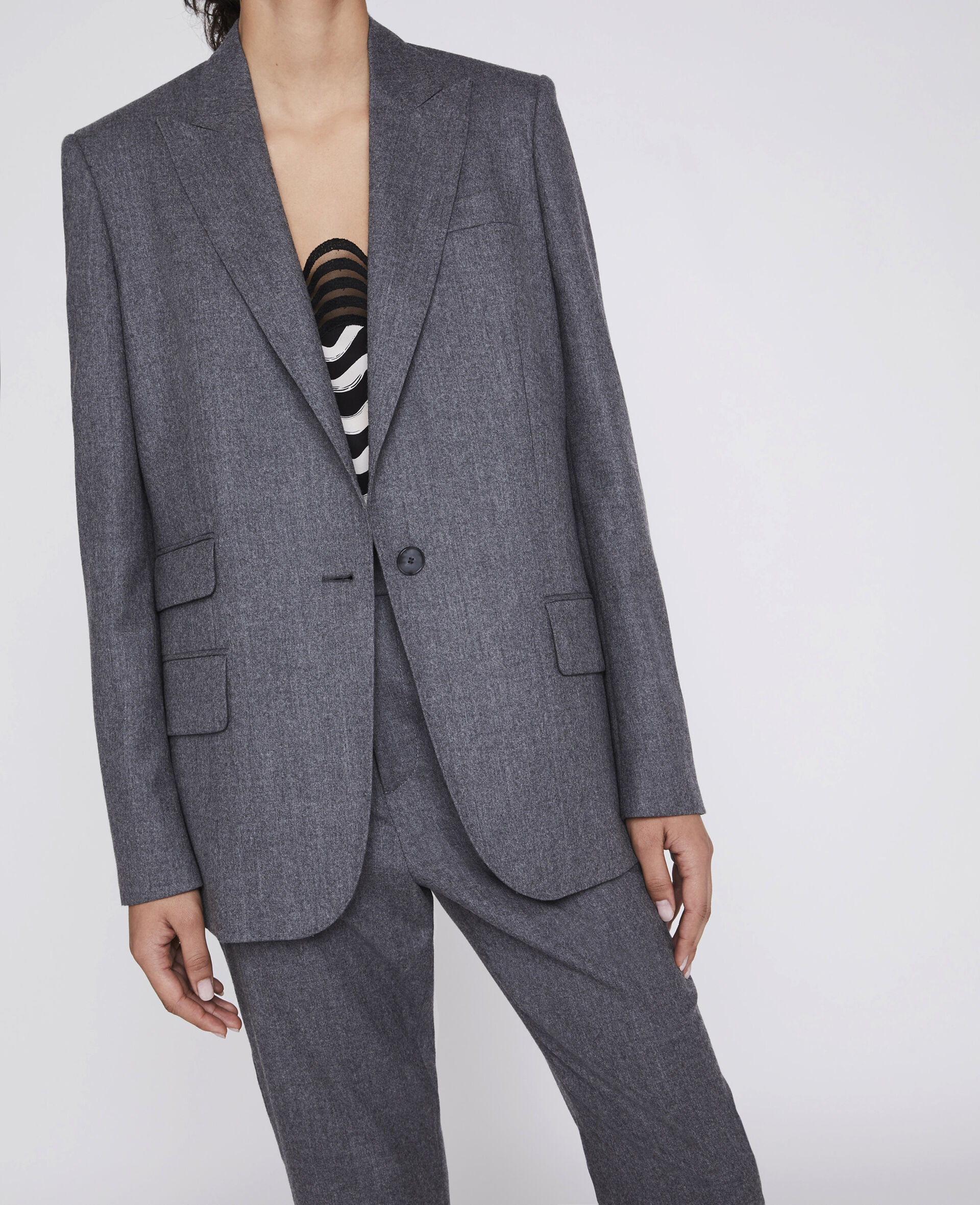 Tailored Bell Jacket -Grey-large image number 3