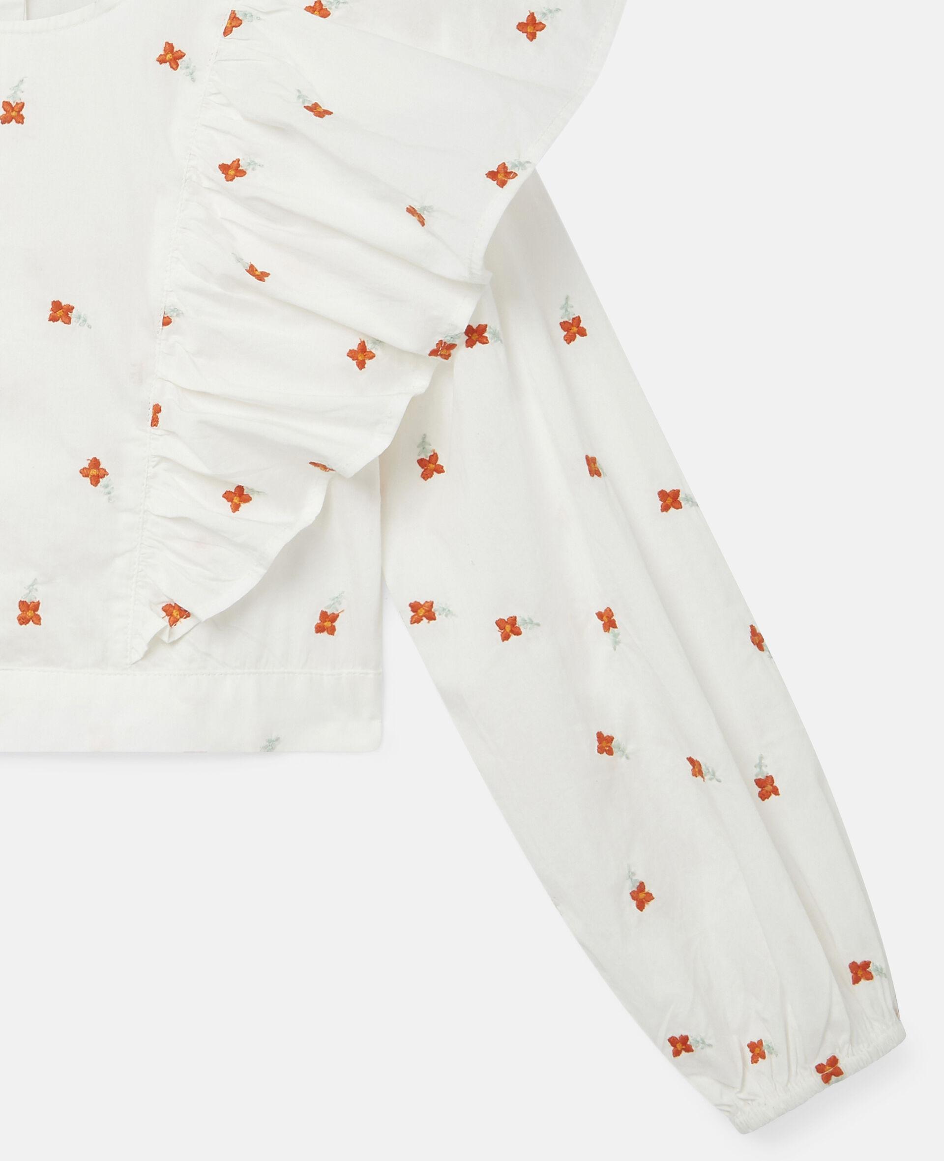 Baumwoll-Top mit Blumenstickerei-Weiß-large image number 2