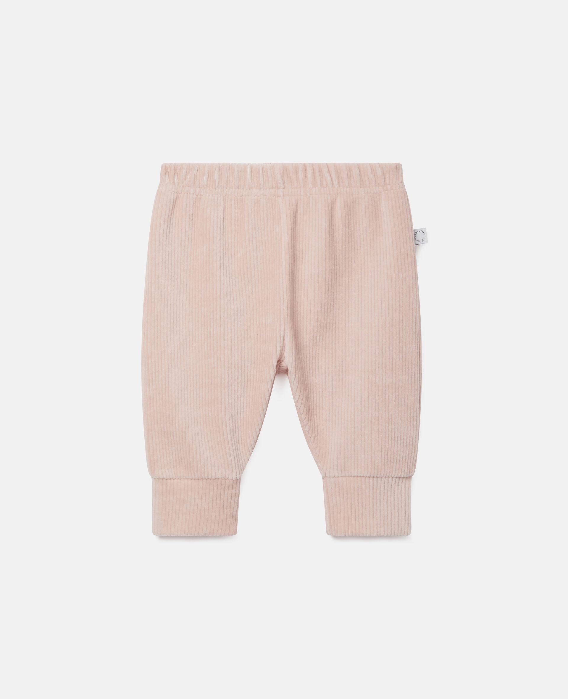 Pantalon de jogging en velours-Rose-large image number 0