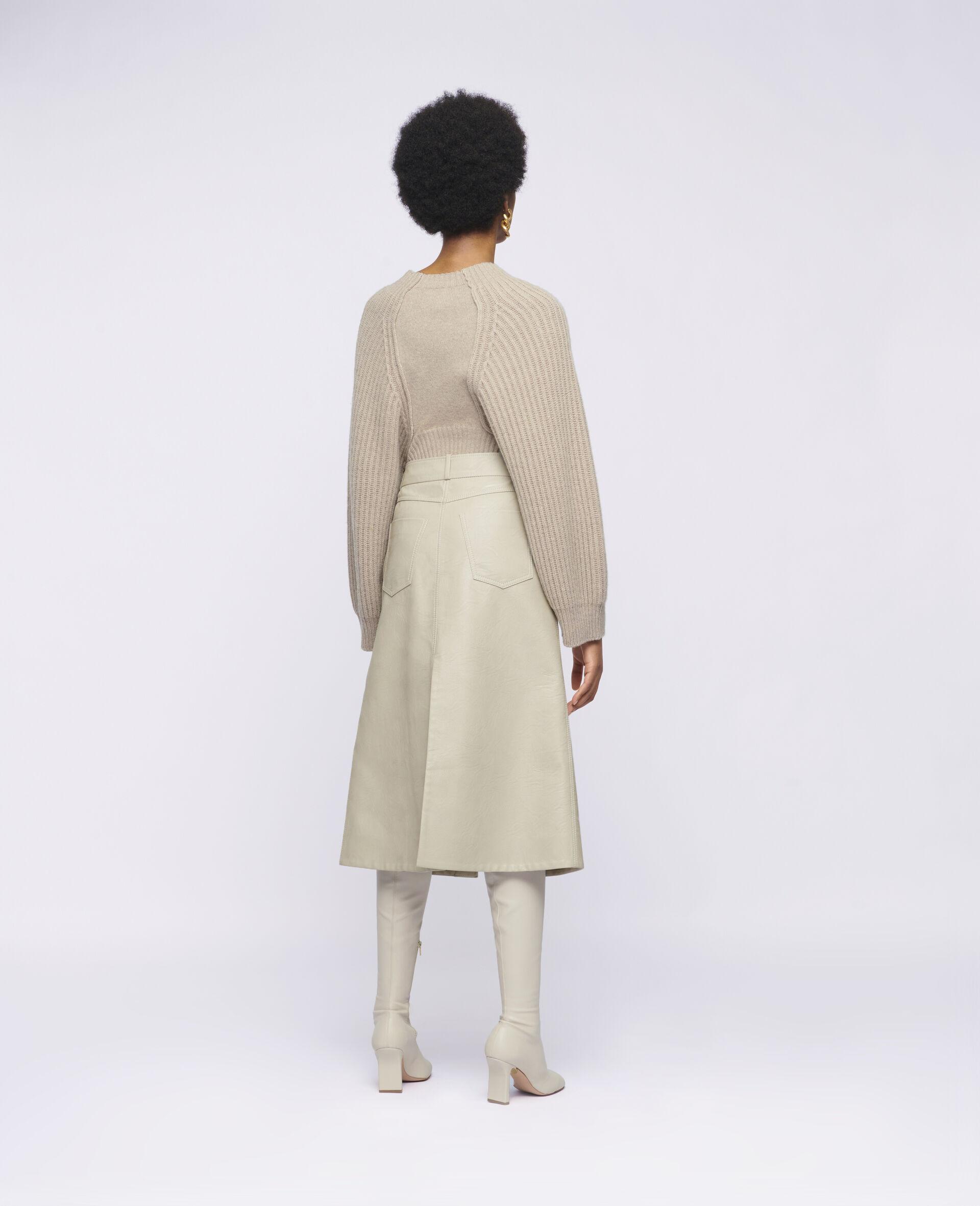 Lauren Alter Mat Skirt-Beige-large image number 2