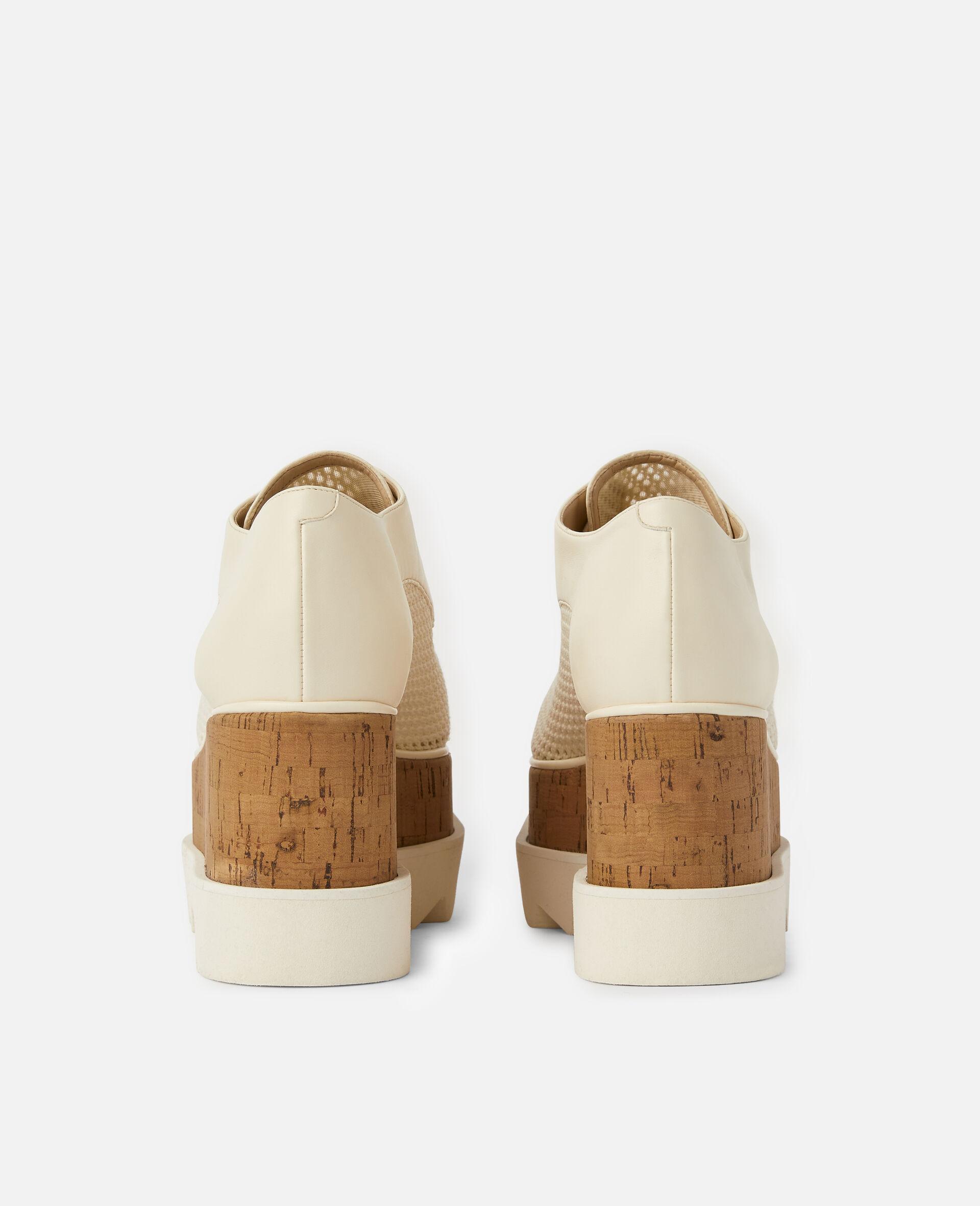 Chaussures compensées Elyse en mesh tissé -Blanc-large image number 2