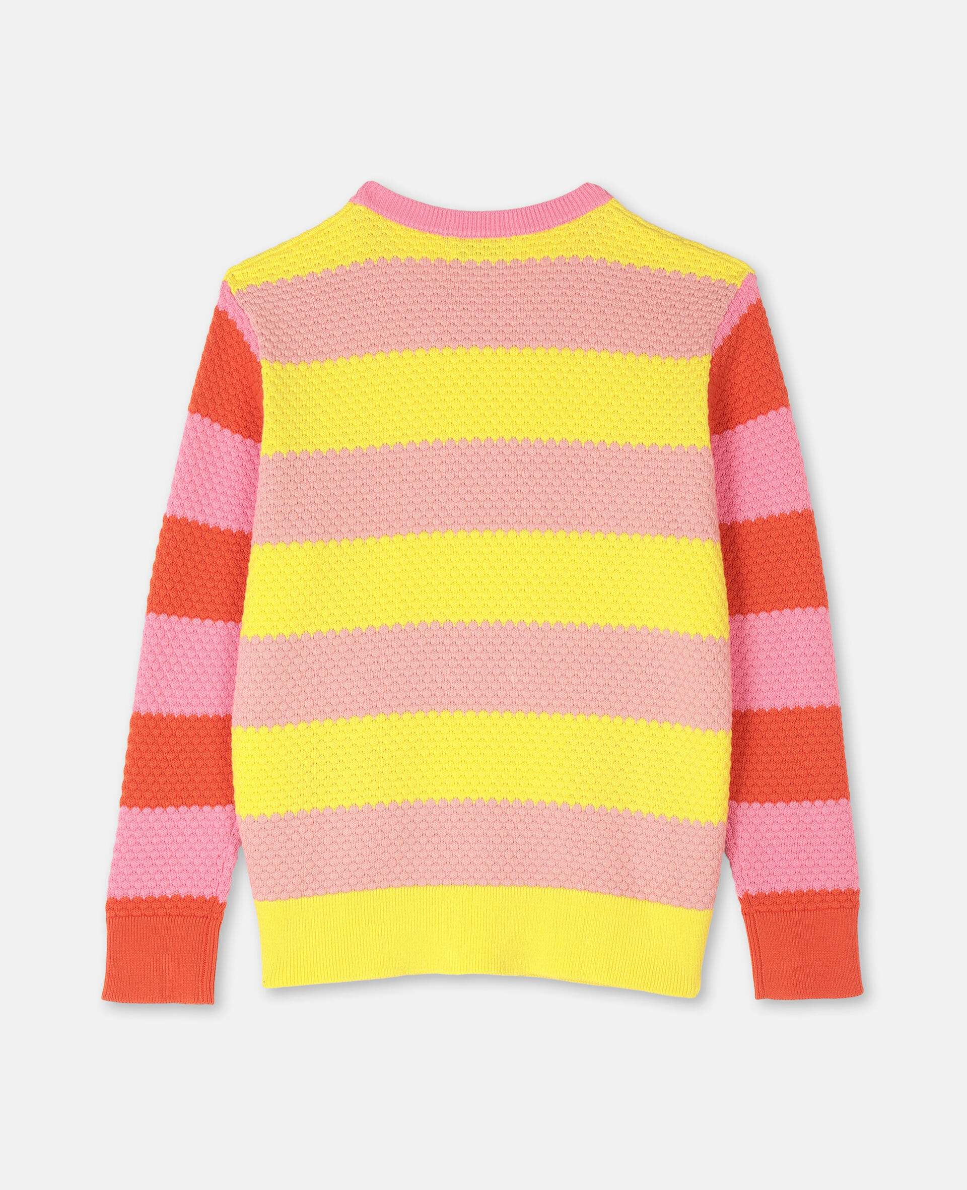 Bubble Knit Cotton Jumper -Red-large image number 3