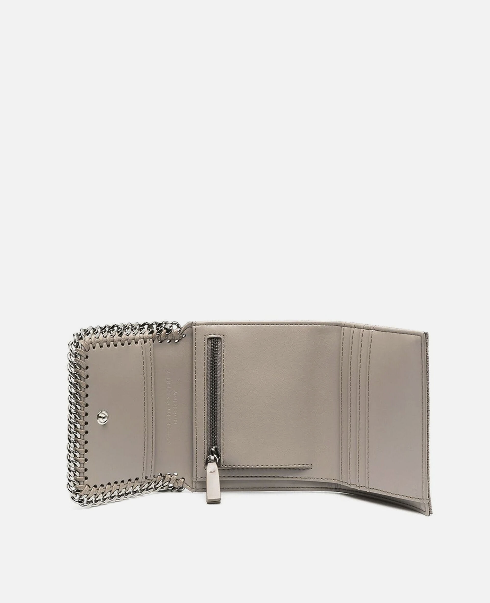 Falabella Small Flap Wallet-Grey-large image number 3