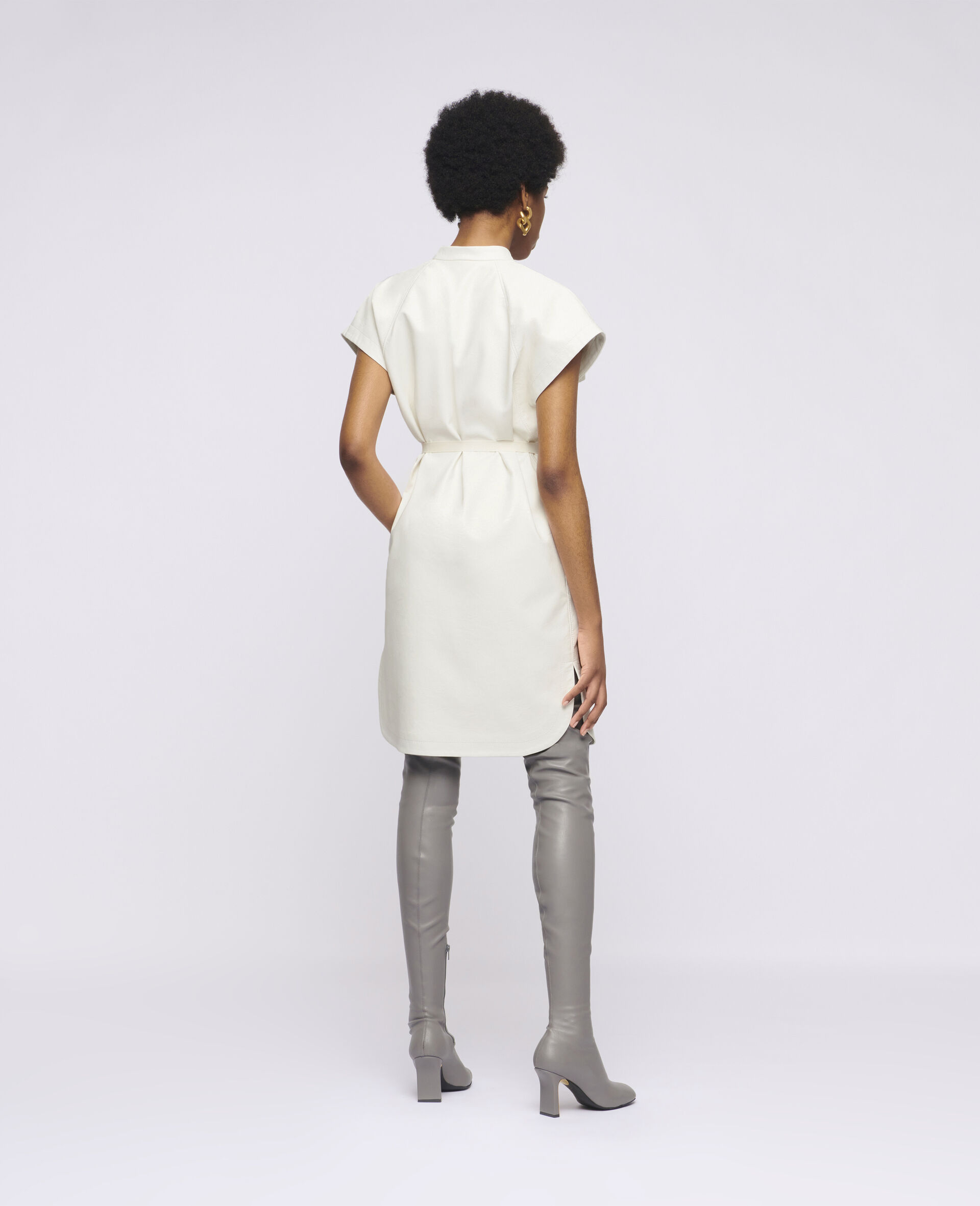 Midi-Kleid Lexie-Weiß-large image number 2