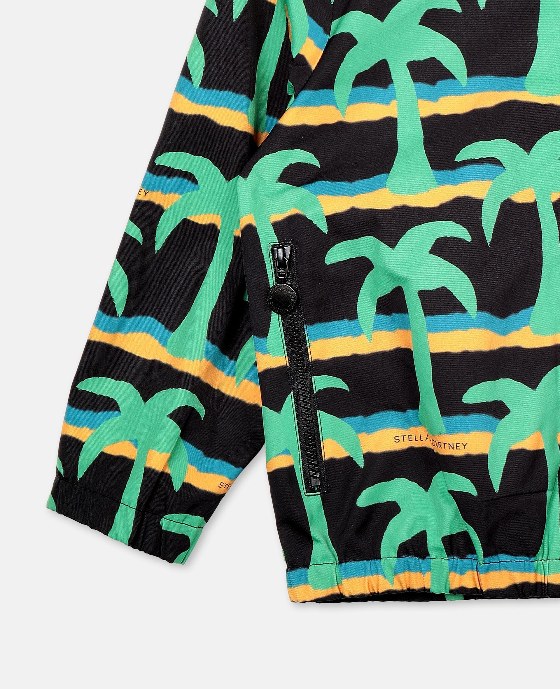 Jacke aus Polyester mit Palmen-Print -Schwarz-large image number 1