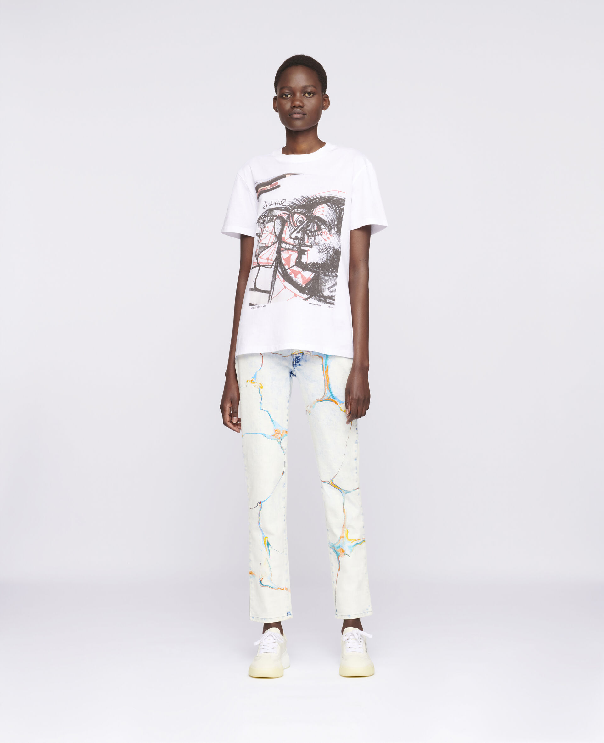 """George Condo """"G""""-T-Shirt-Weiß-large image number 1"""