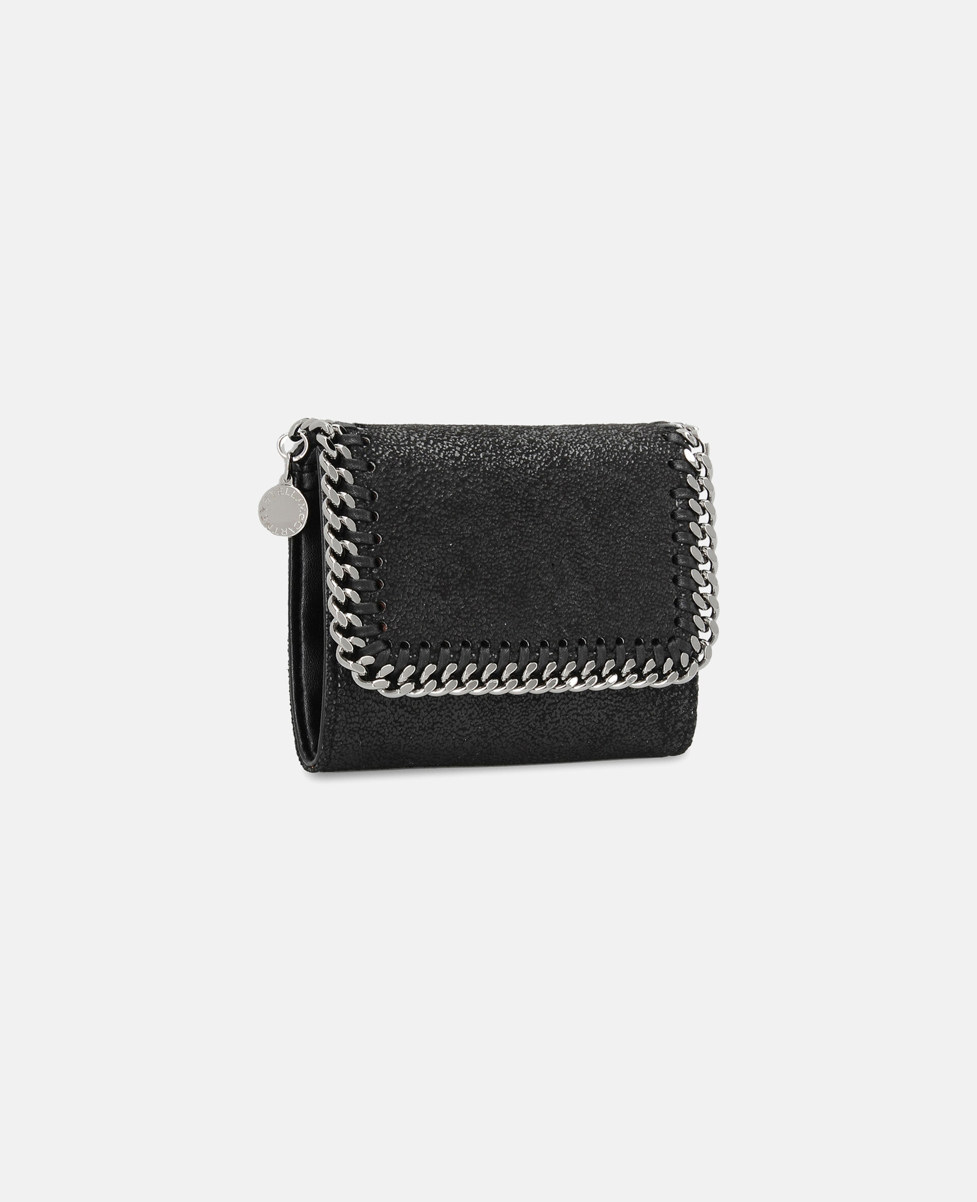 Falabella Small Flap Wallet-Grey-large image number 1
